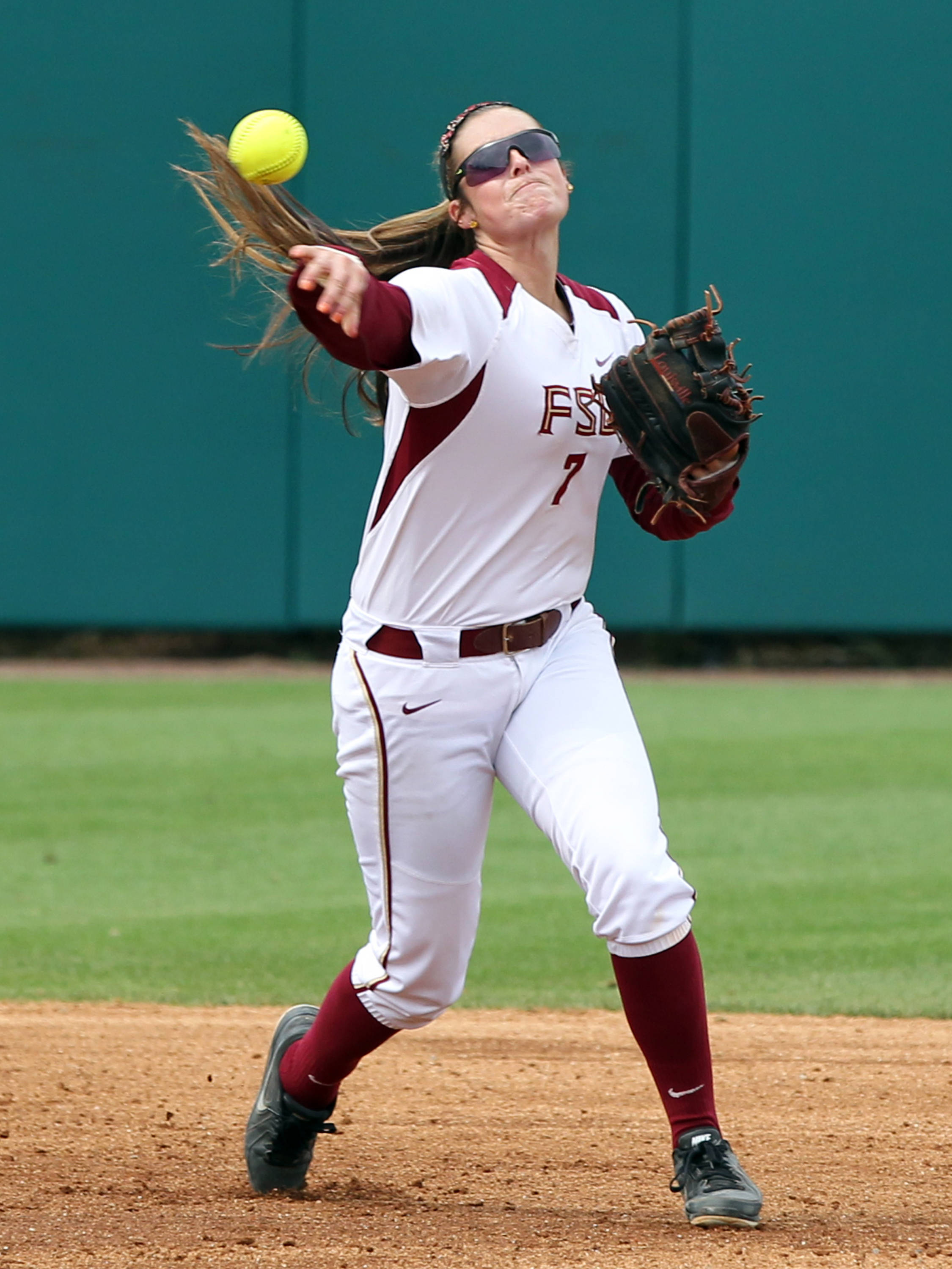 Maddie O'Brien, FSU VS NC, ACC Championship Semifinals, Tallahassee, FL,  05/10/13 . (Photo by Steve Musco)