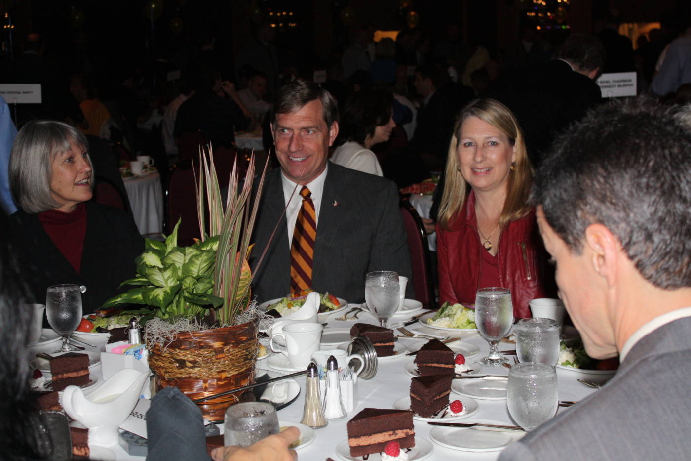 (From left to right): Molly Barron, FSU Athletics Director Randy Spetman and wife Becky Spetman at the Gator Bowl Luncheon and Hall of Fame Induction.