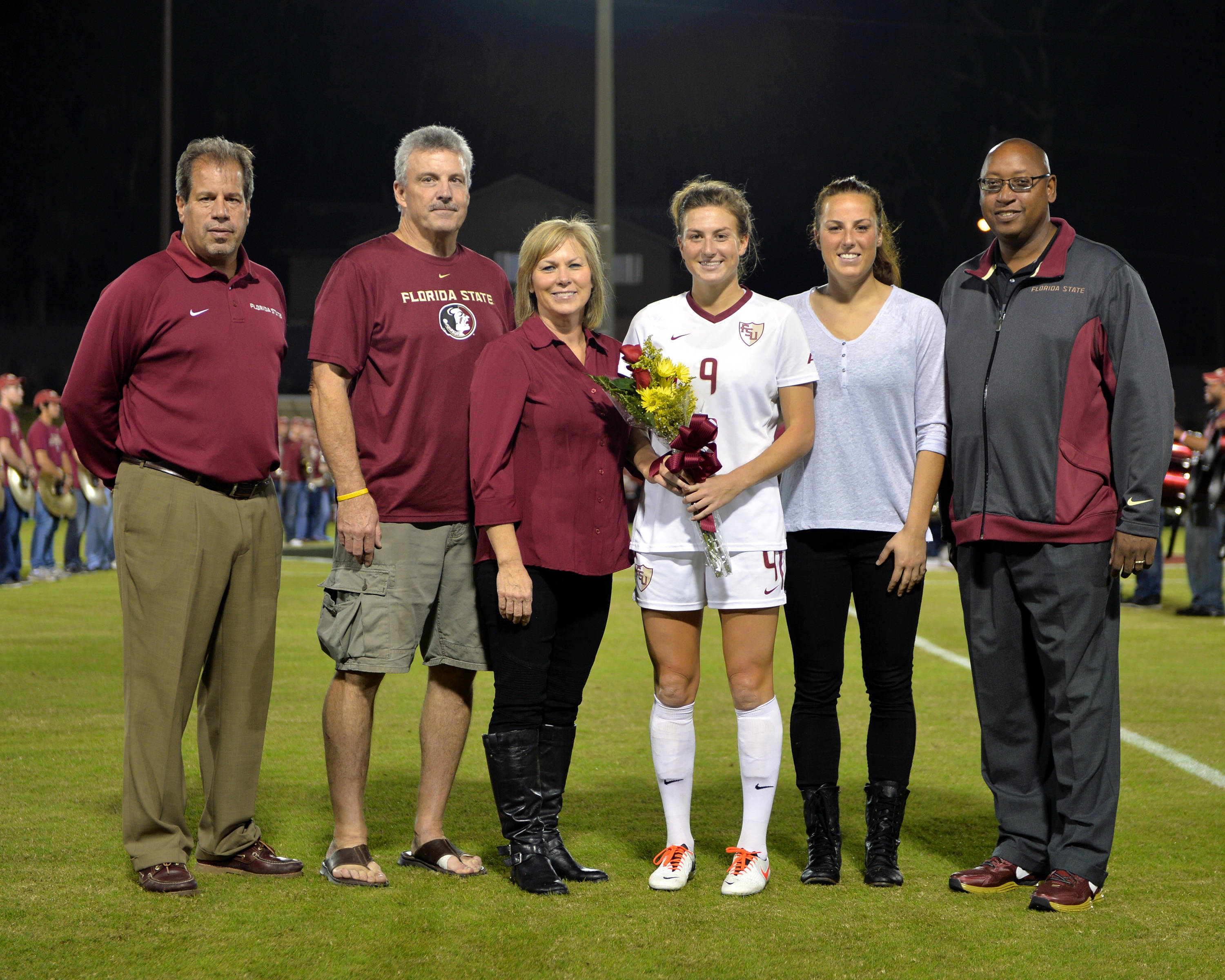 Florida State honors its senior class Thursday night. Kassey Kallman, her family, head coach Mark Krikorian and AD Stan Wilcox.