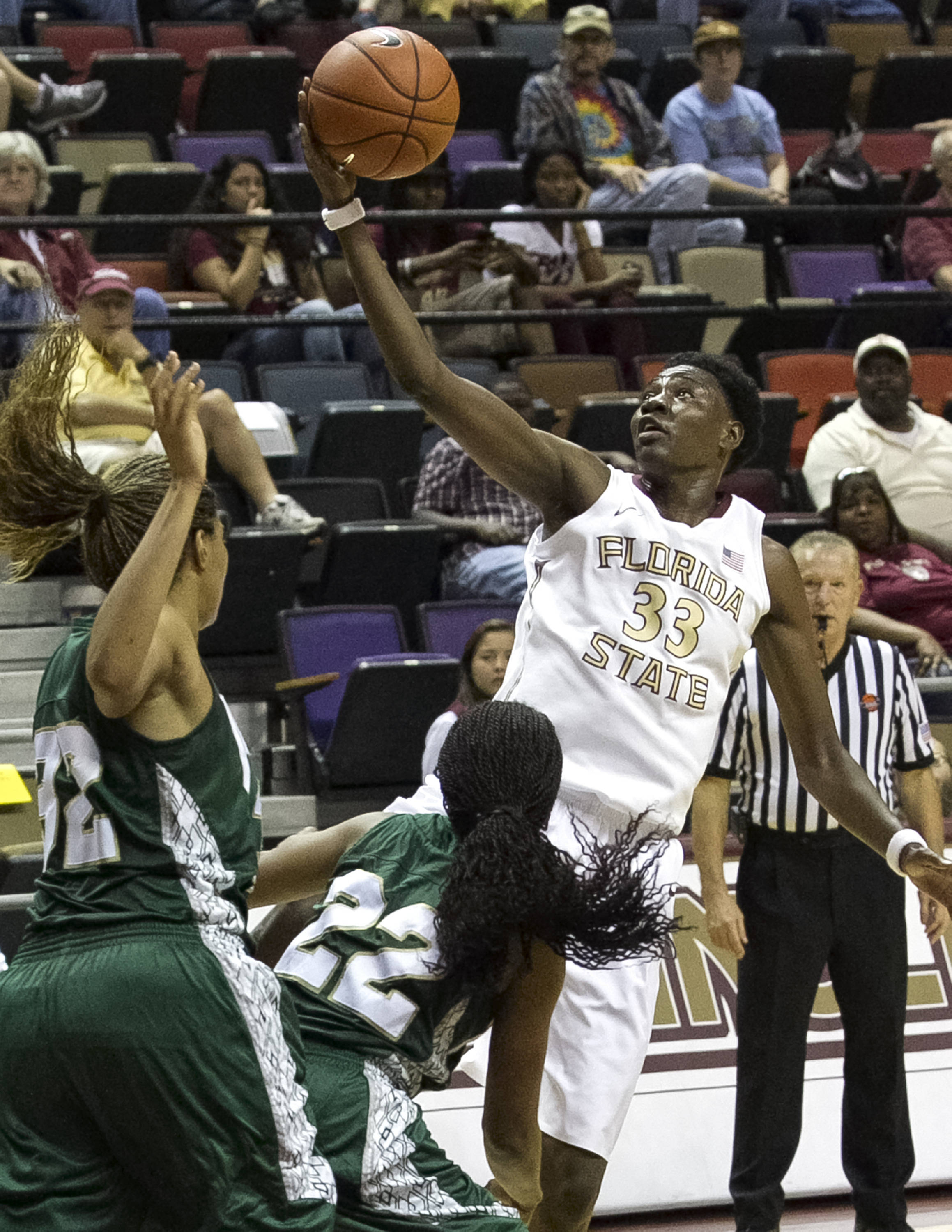 Natasha Howard (33), FSU vs Jacksonville, 12-08-13,  (Photo by Steve Musco)