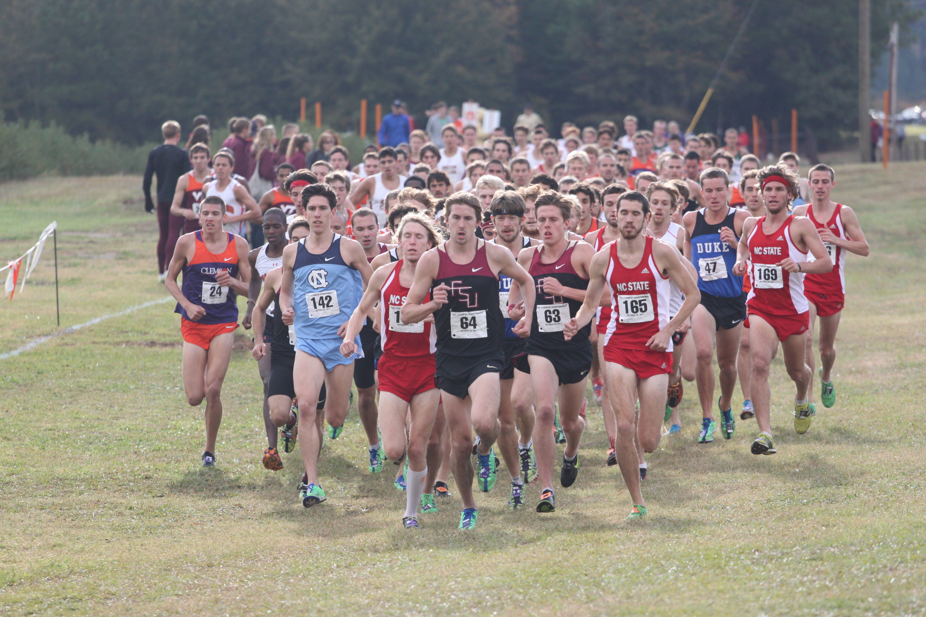 Mike Fout leads the way early at the 2011 ACC XC Championships