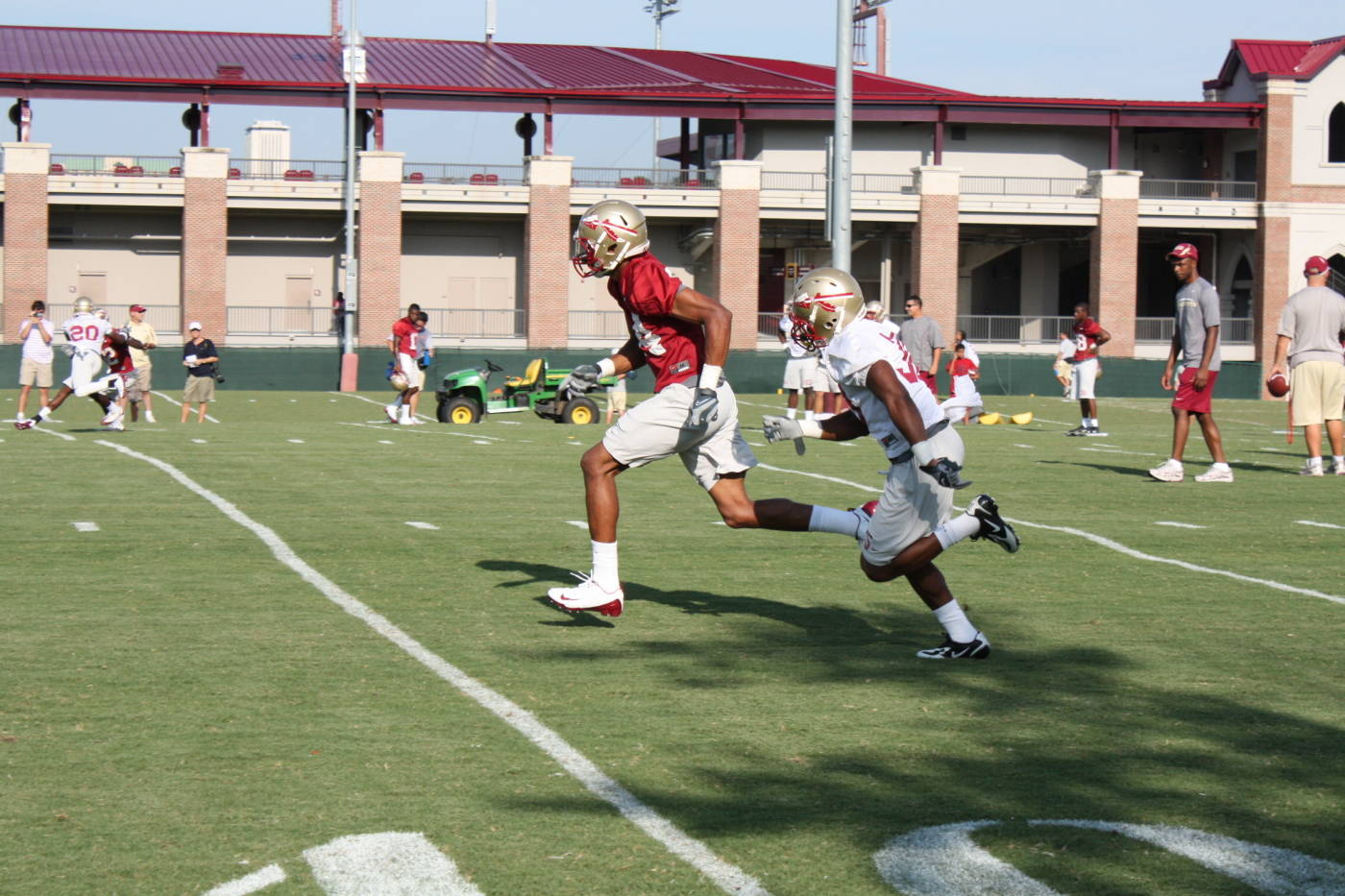Football Practice #1 - August 7th, 2009 (courtesy of Seminoles.com)
