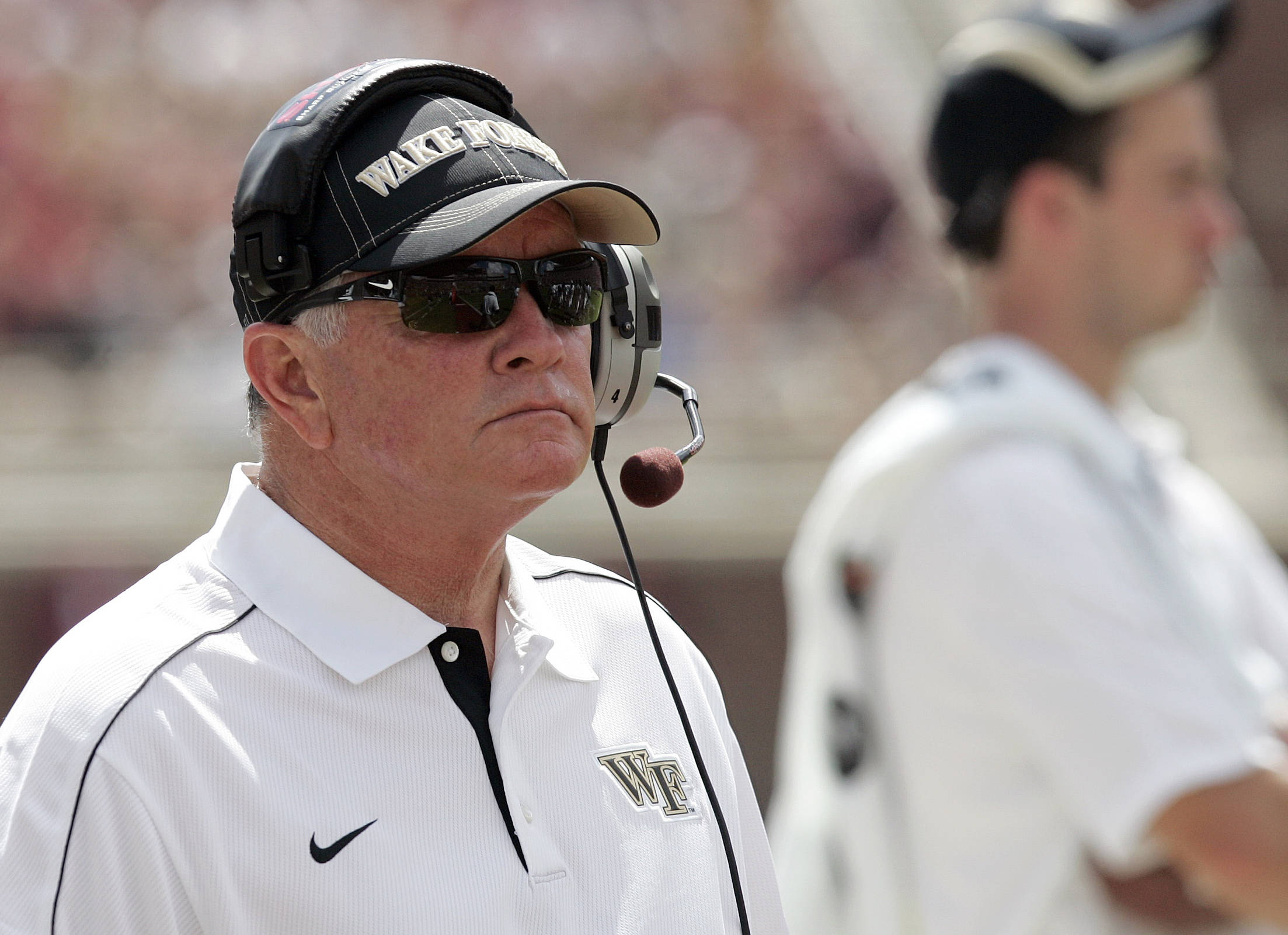 Wake Forest head coach Jim Grobe watches from the sideline. (AP Photo/Steve Cannon)