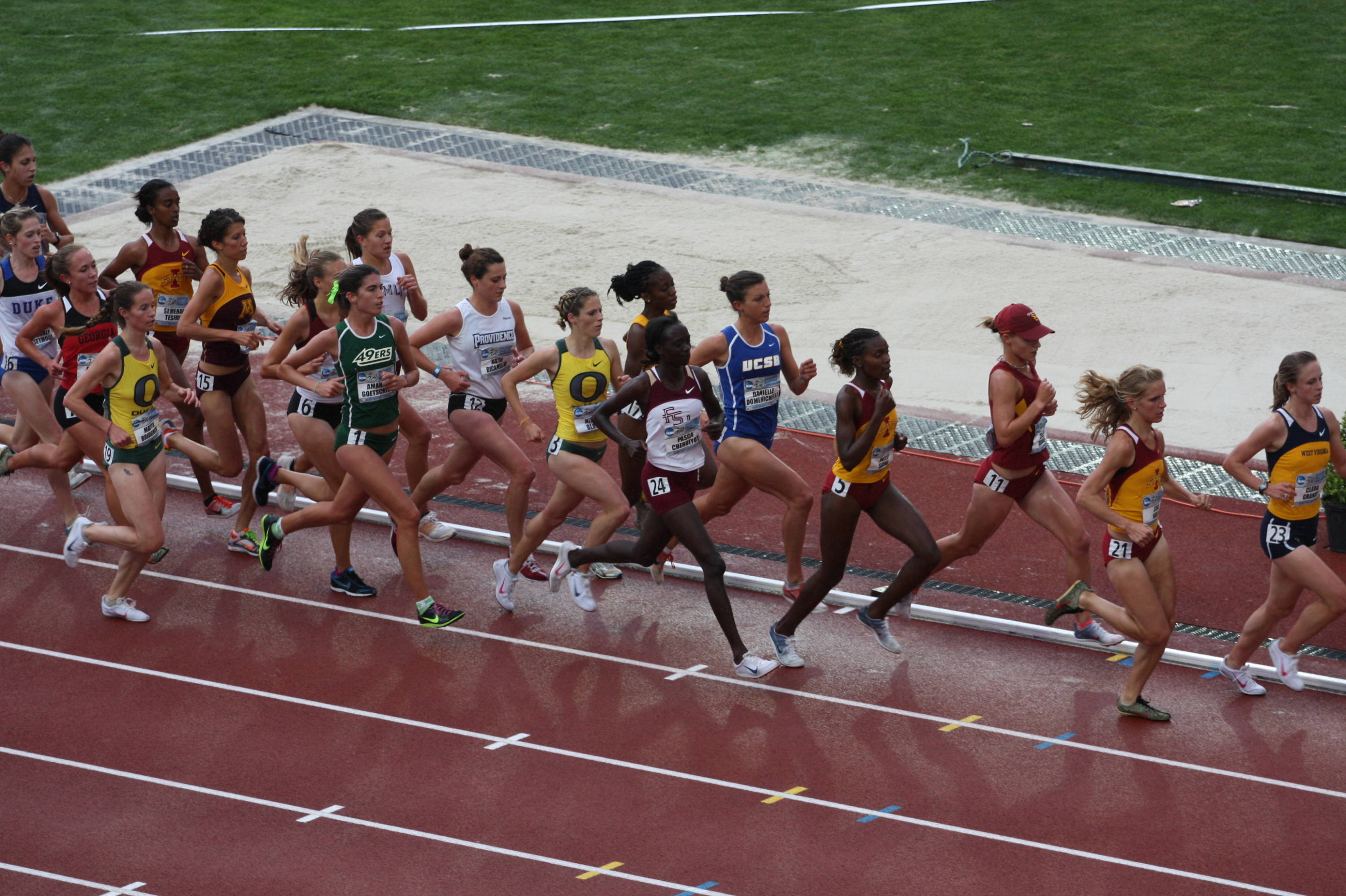 The first day of the 2010 NCAA Outdoor Championships.