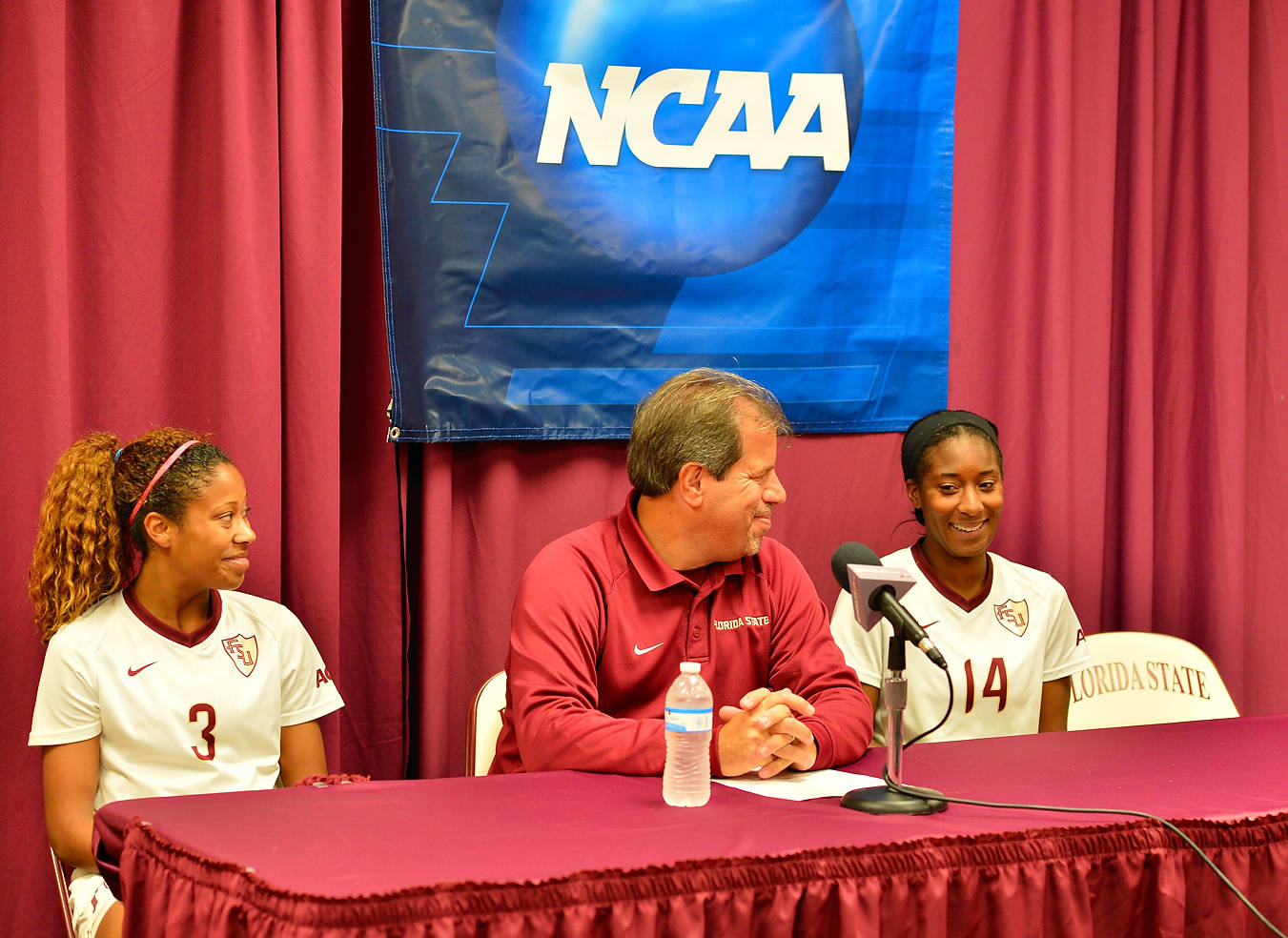 Casey Short, head coach Mark Krikorian and Tiffany McCarty talk to the media after Friday night's victory.