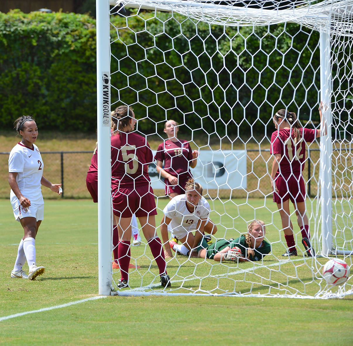 The completion of Grubka's goal to give FSU a 1-0 lead in the first half.