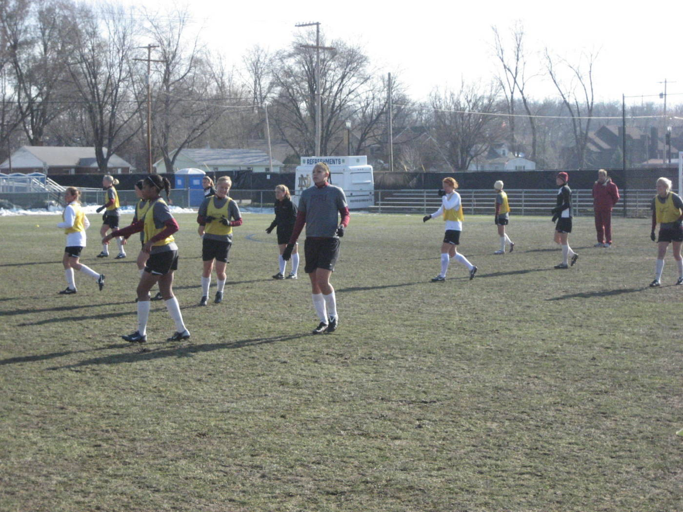 Training day on Thursday in South Bend.