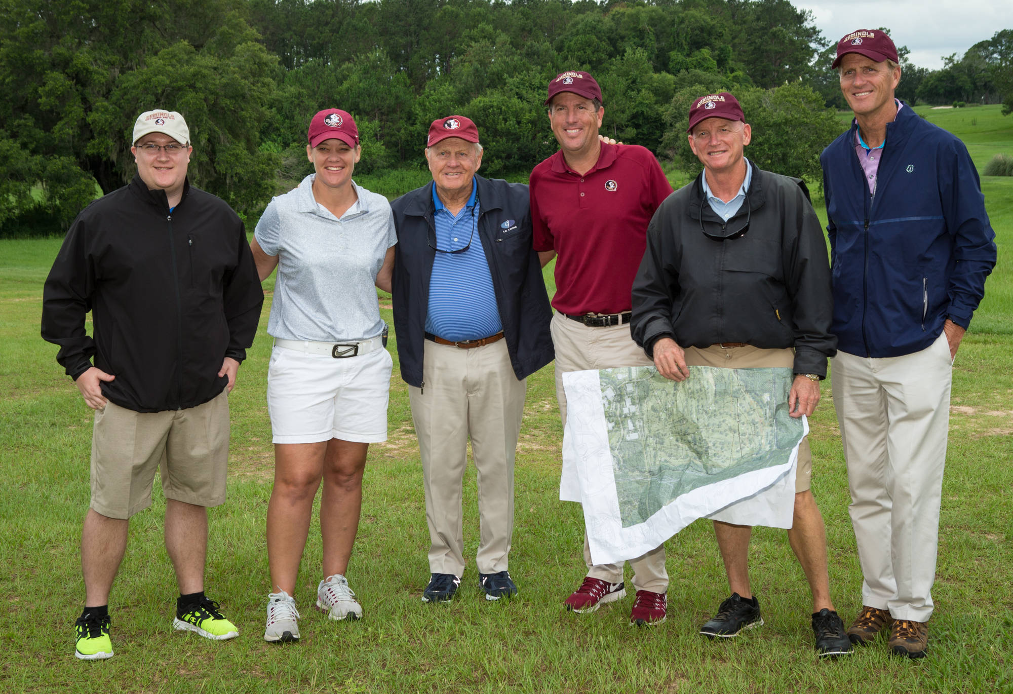 FSU Golf head coaches Amy Bond and Trey Jones meet with Nicklaus Design