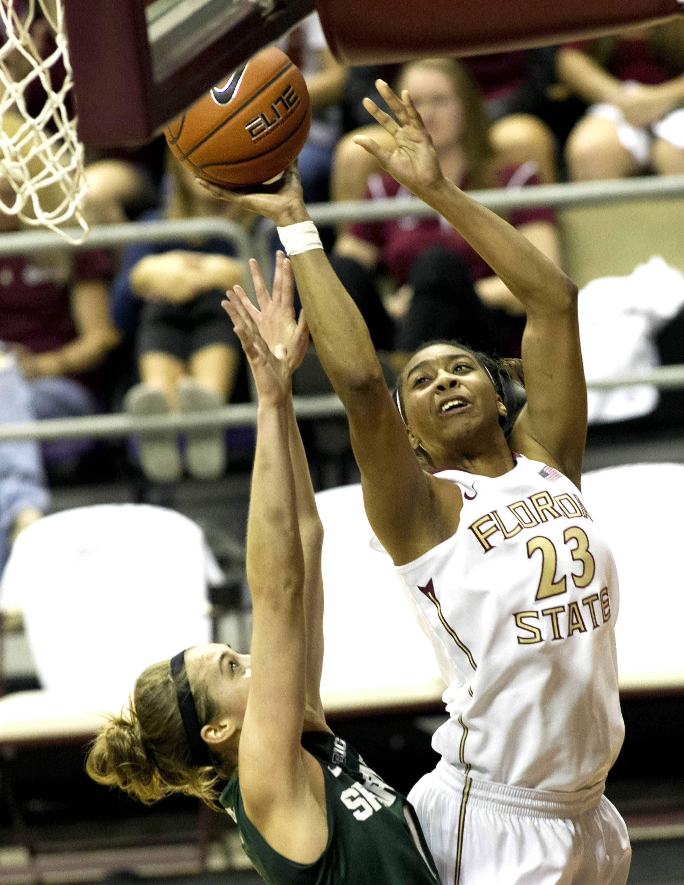 Ivey Slaughter (23), FSU vs Michigan State, 12-04-13,  (Photo by Steve Musco)