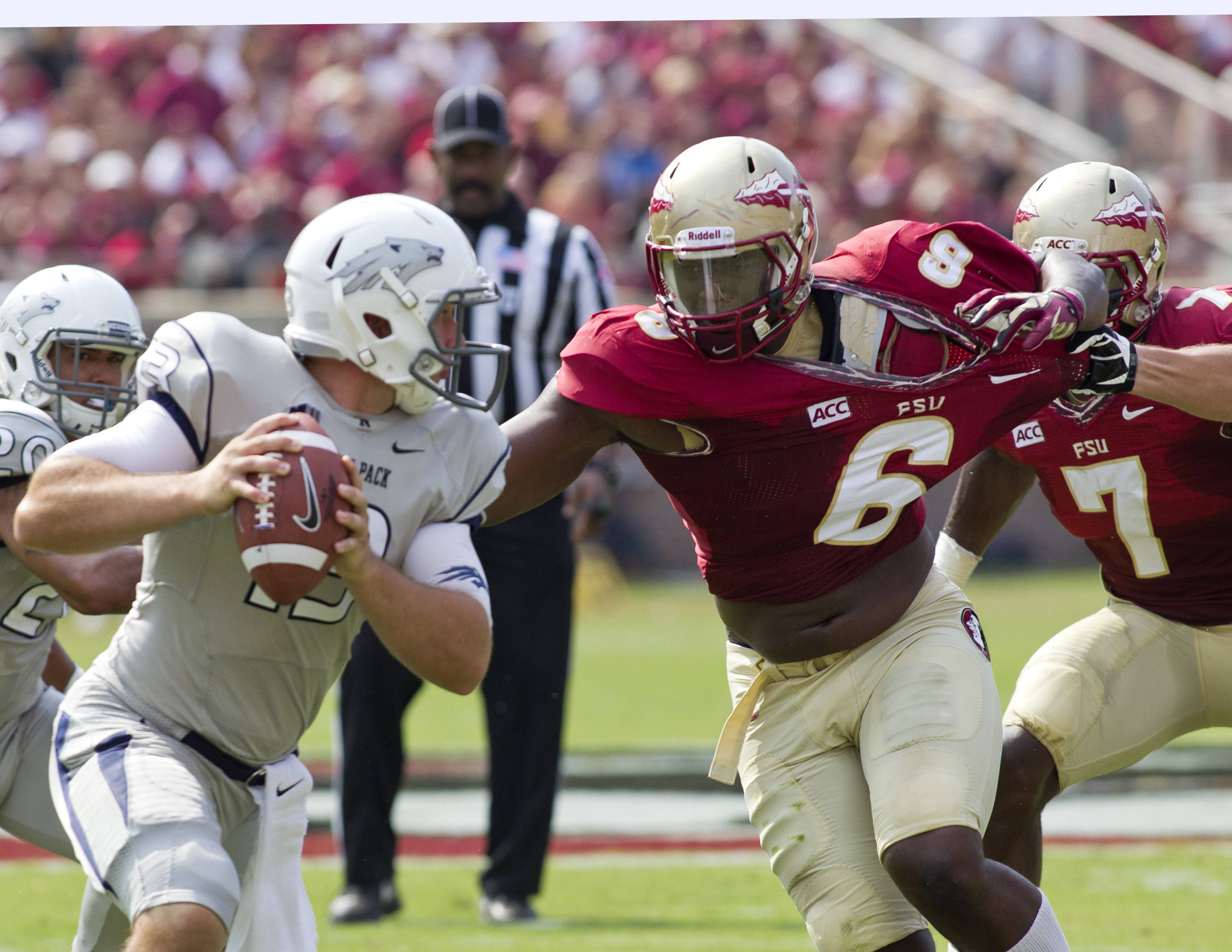 Dan Hicks (6), FSU vs Nevada,  9-14-13, (Photo by Steve Musco)