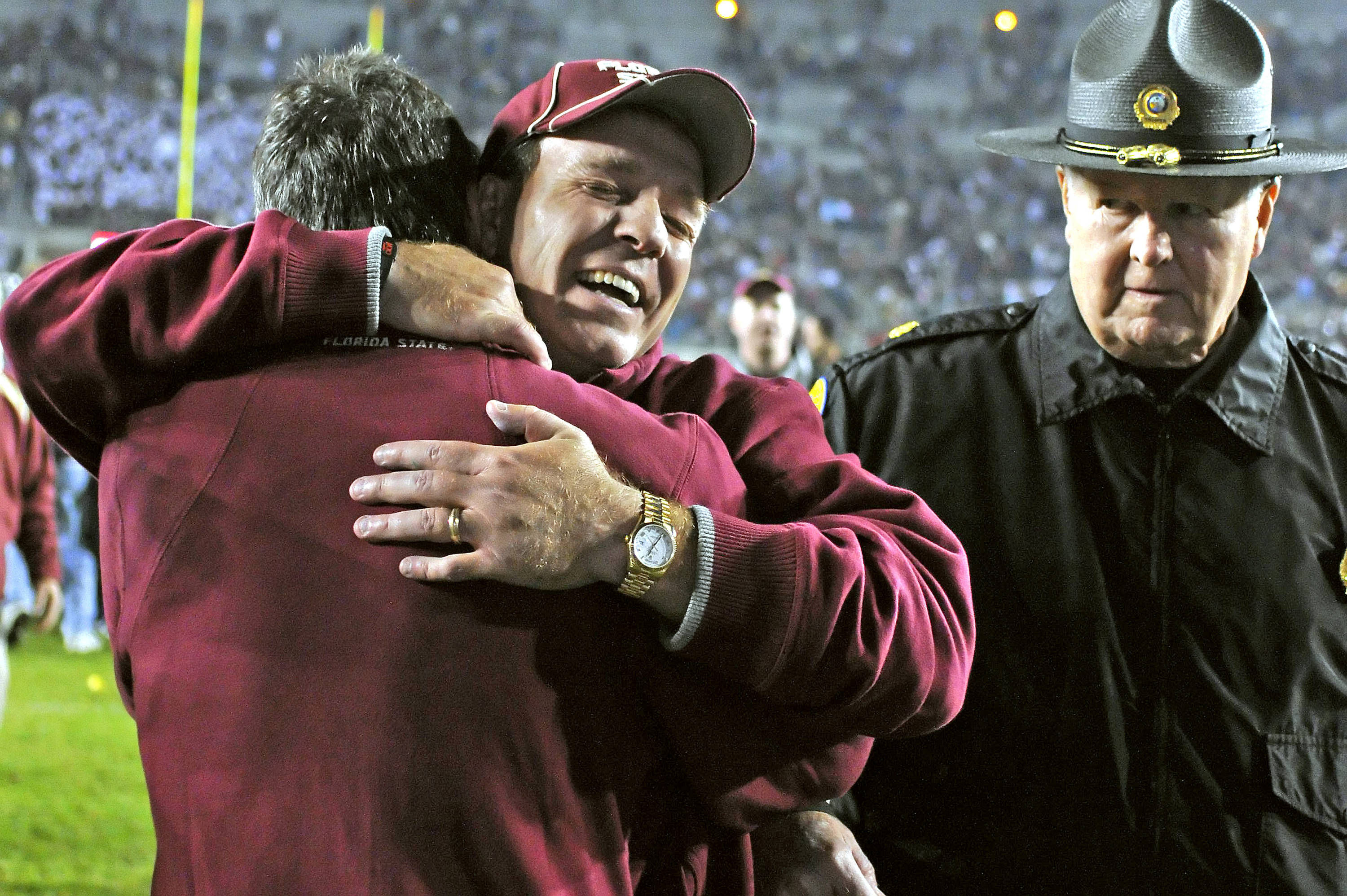 Jimbo Fisher is ecstatic after the win