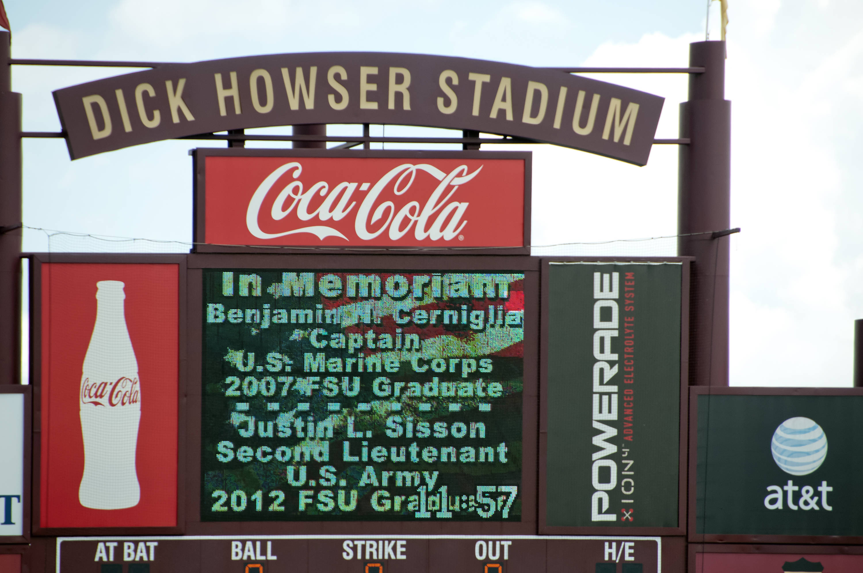 Commemorating two FSU grads who gave their lives in the service of their country