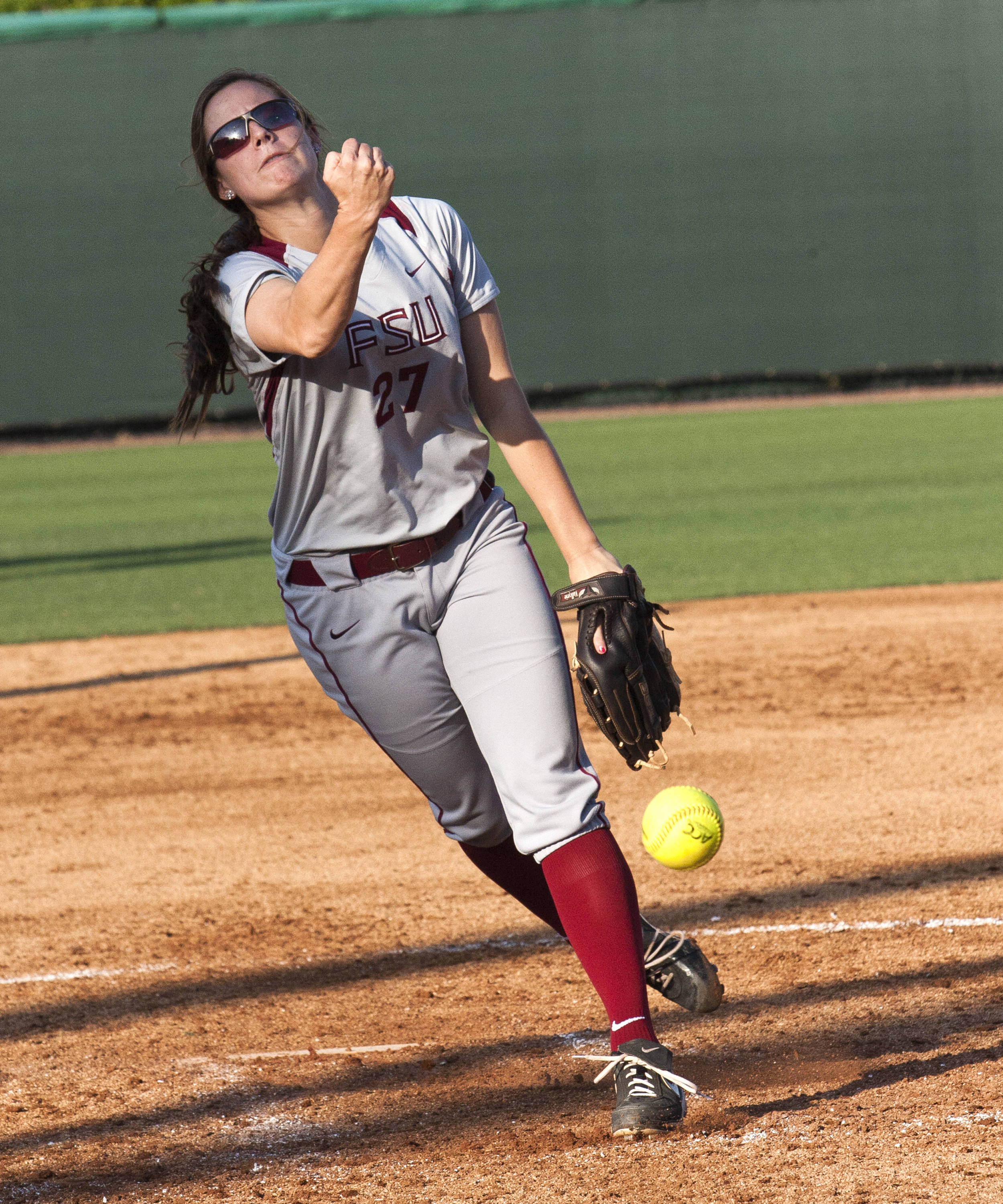 Bailey Schinella, FSU Softball vs FGCU 1,  03/29/2012