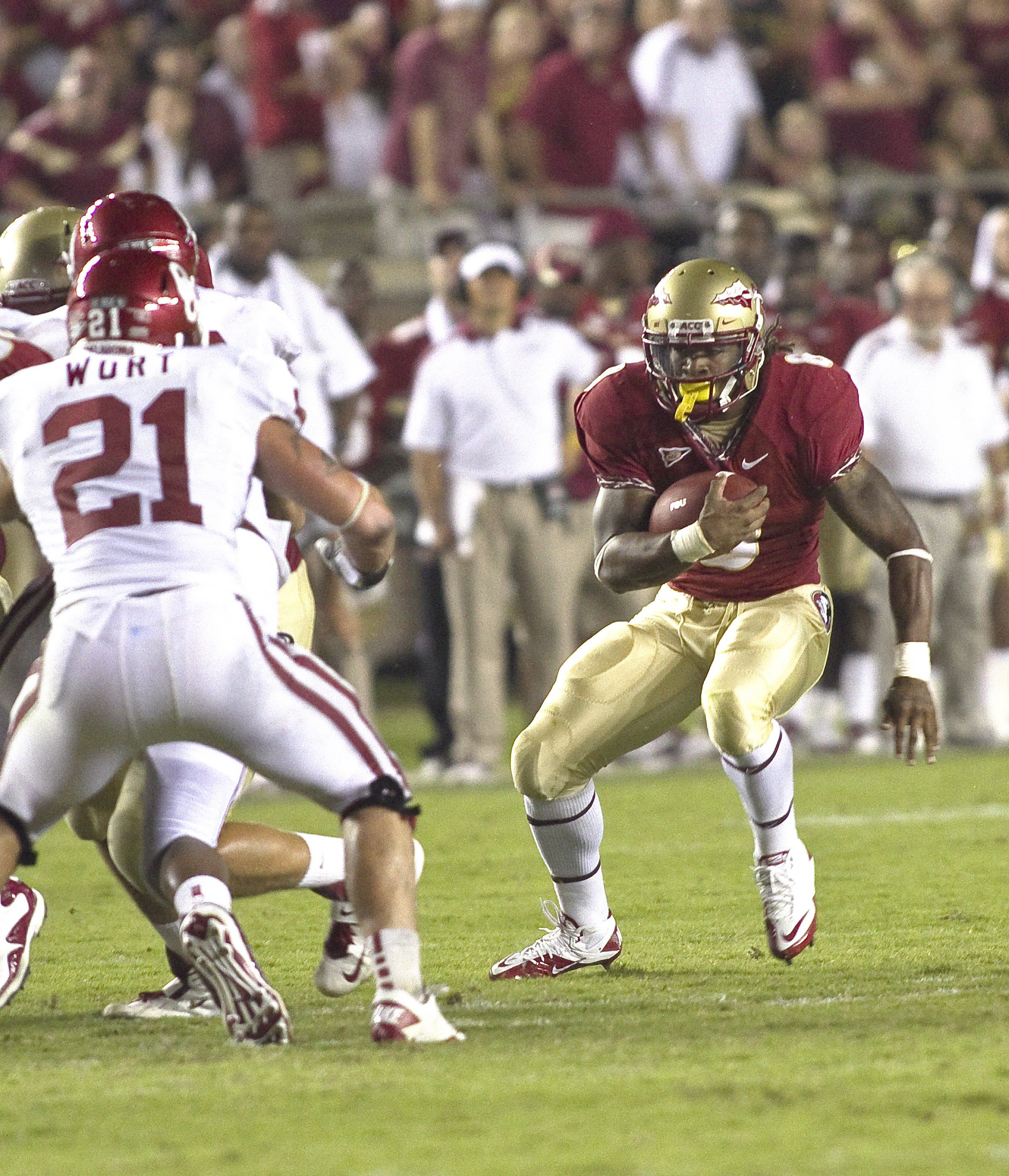 Devonta Freeman (8). FSU vs Oklahoma 9/18/11 Steve Musco