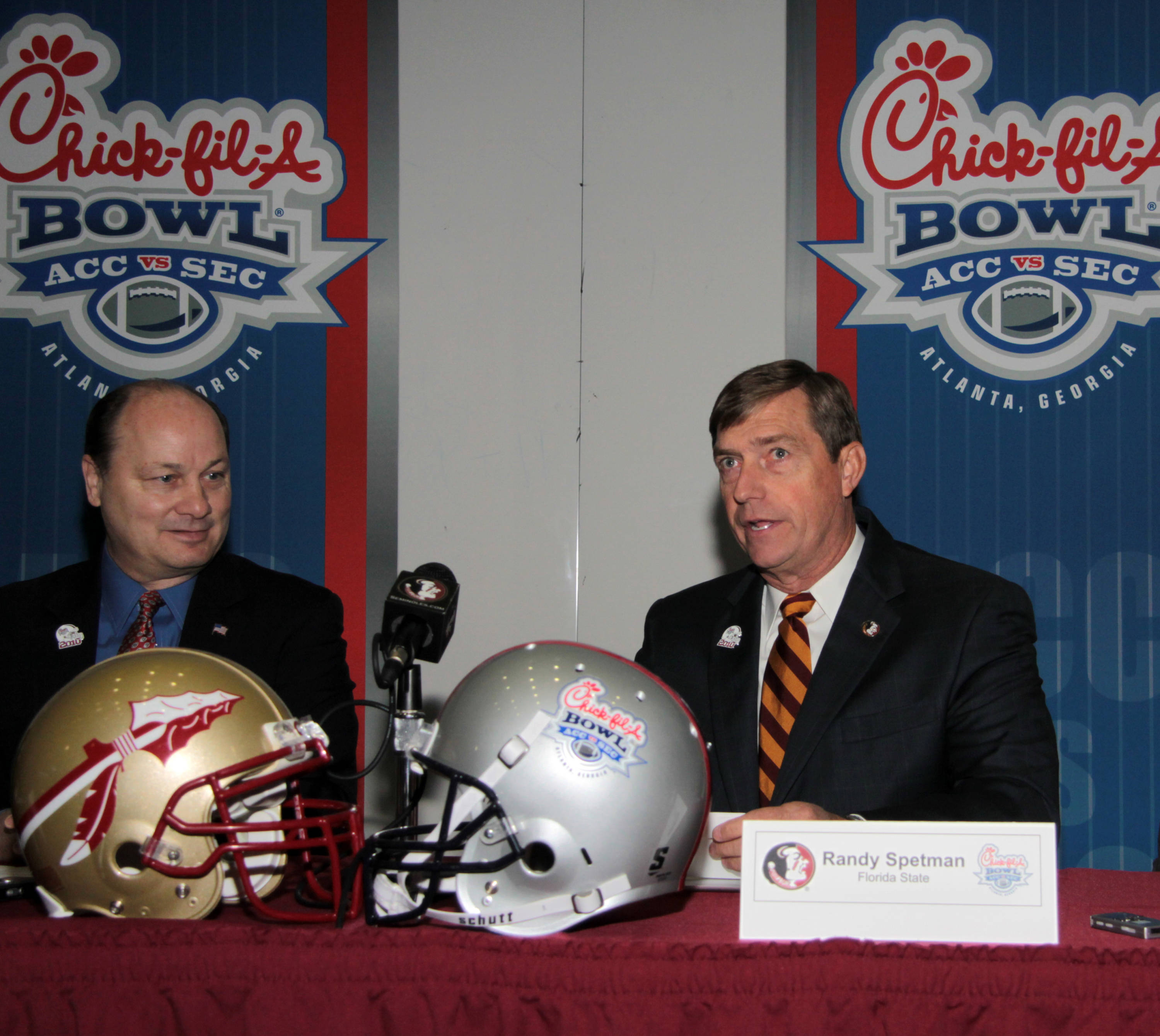 Director of Athletics Randy Spetman discusses his thoughts on Florida State playing in the Chick-Fil-A Bowl.