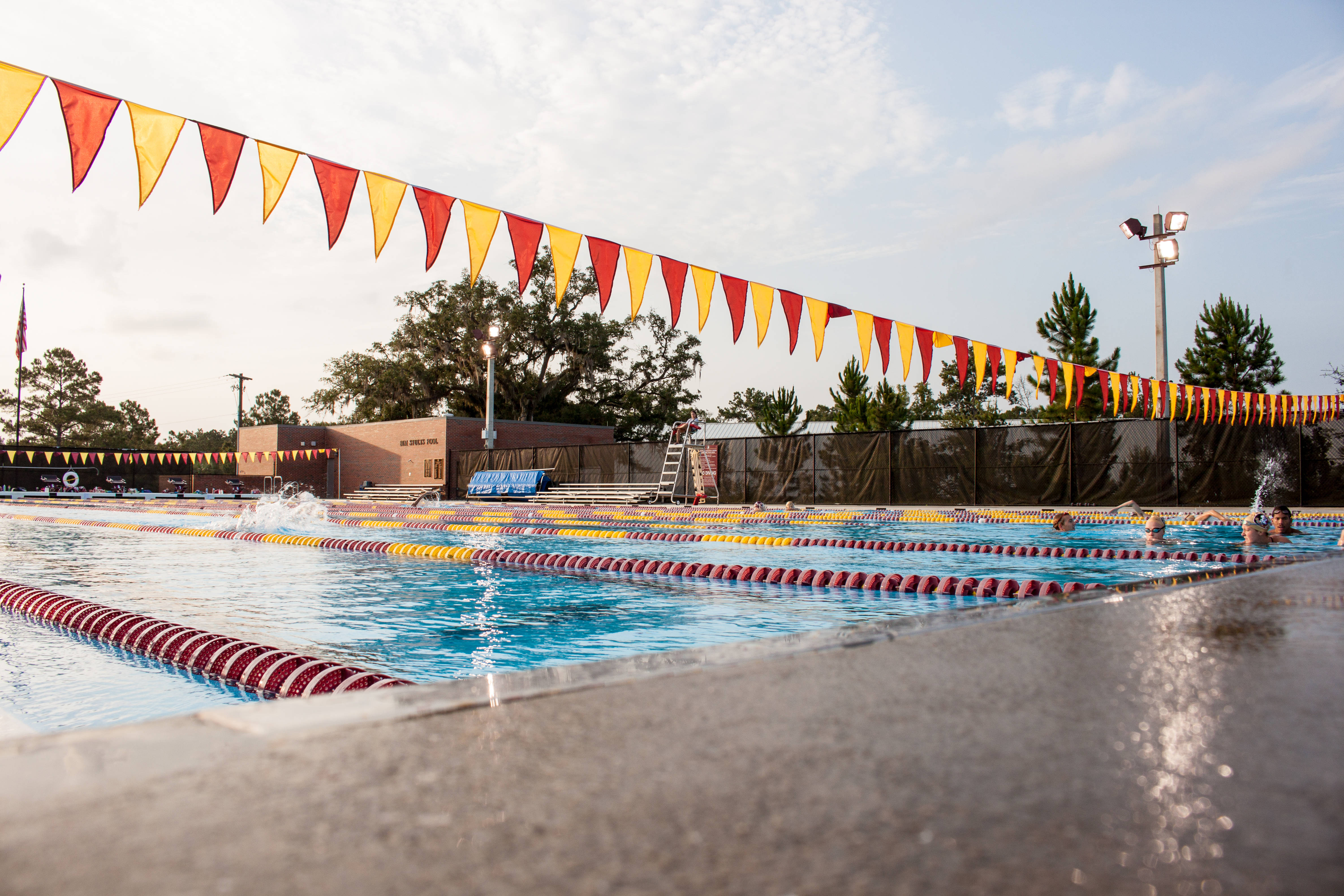 Another view of the Morcom Aquatics Center set up for Long Course Meters.