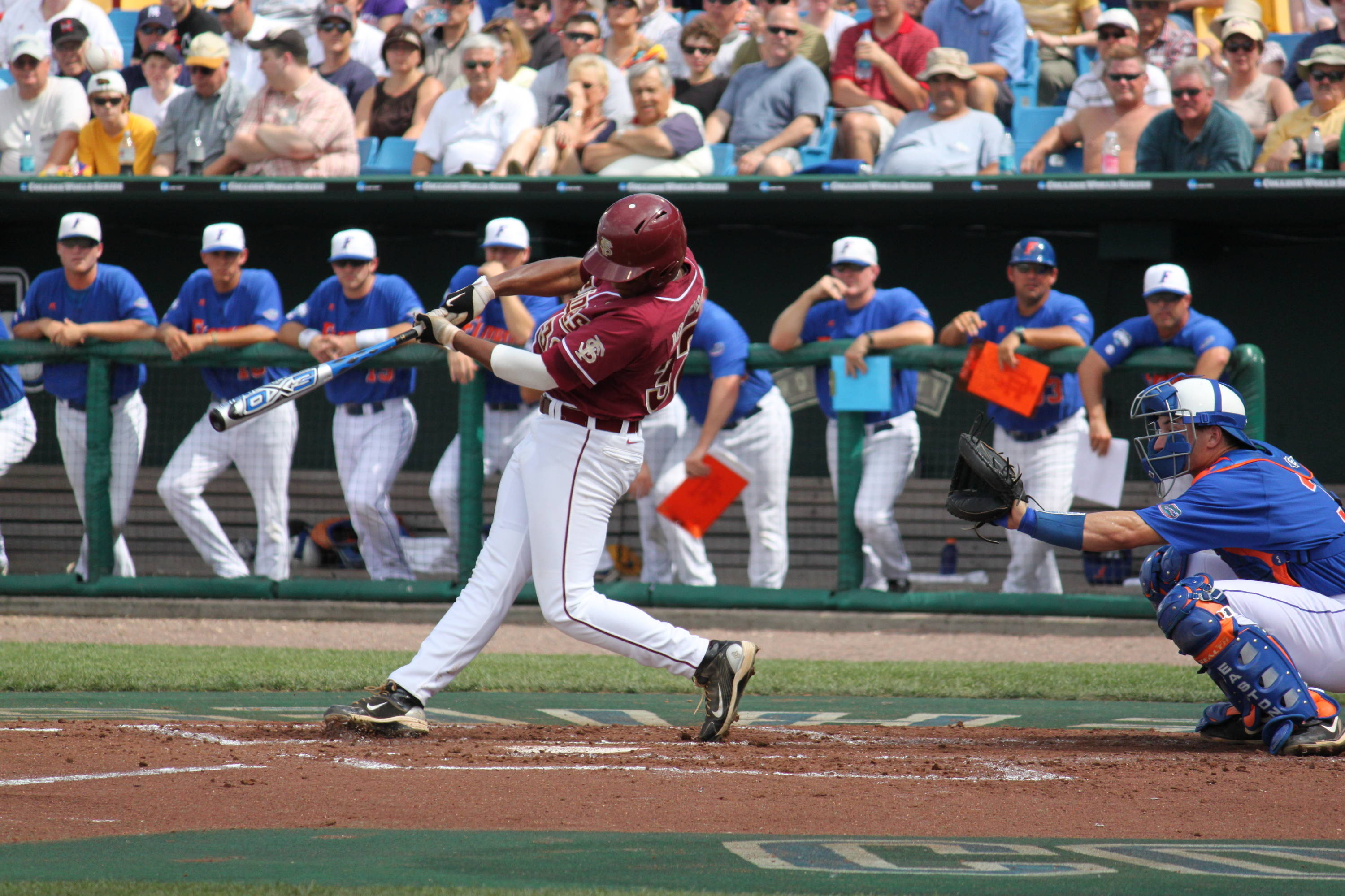 2010 College World Series Victory Over Florida