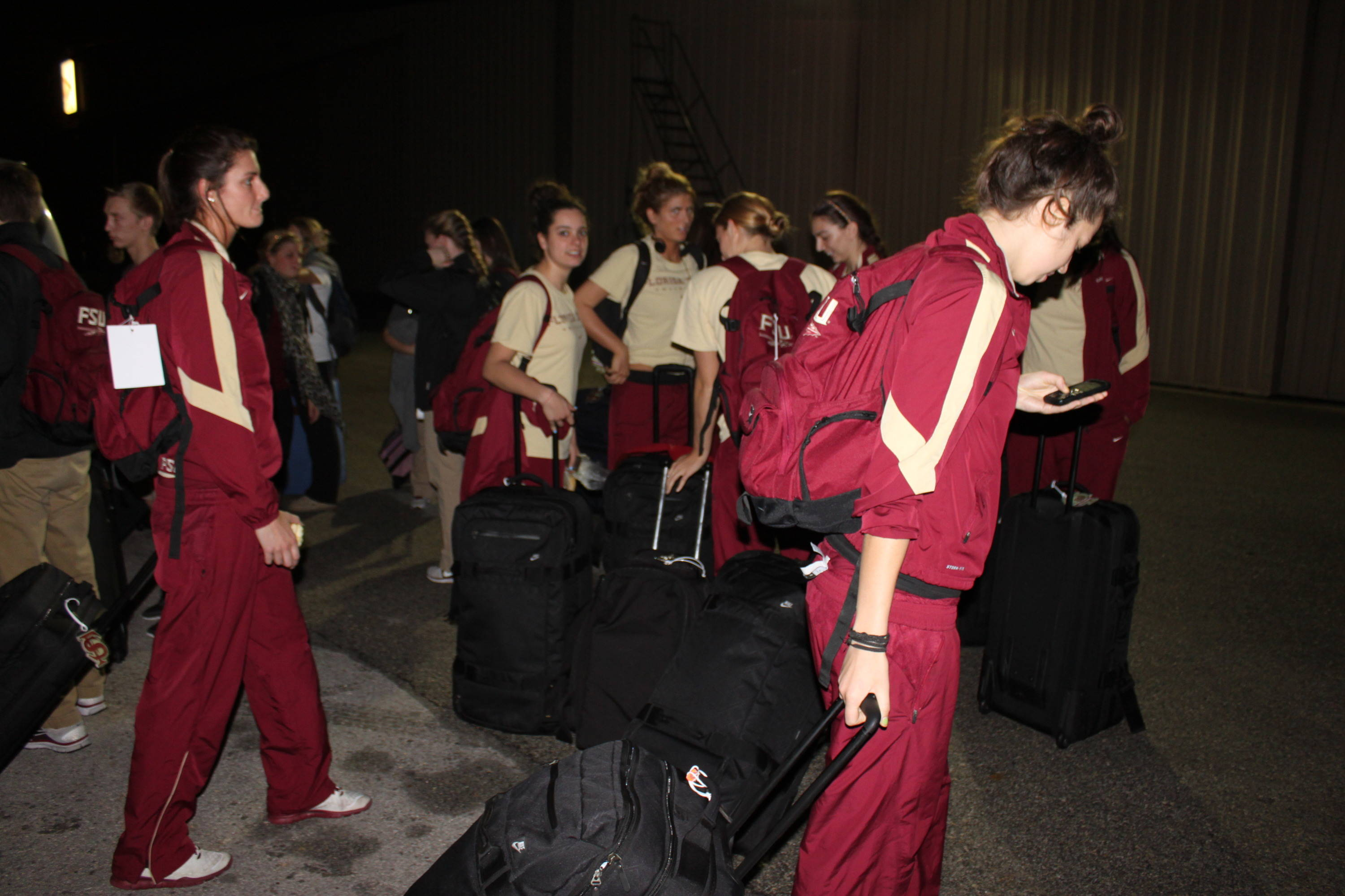 Florida State volleyball touches down in San Antonio for the Final Four!