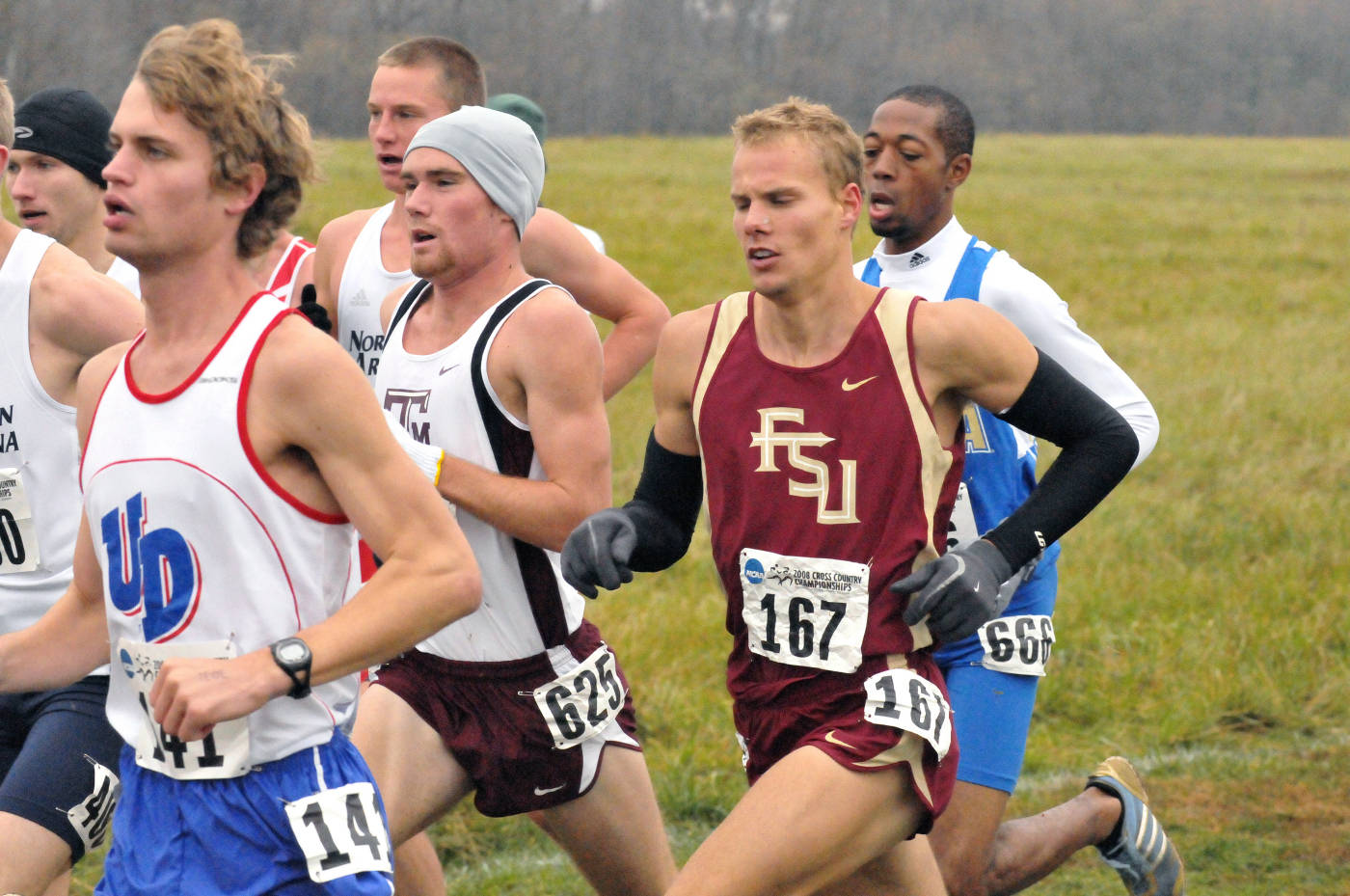 Trey Andrews at the 2008 NCAA Cross Country Nationals.