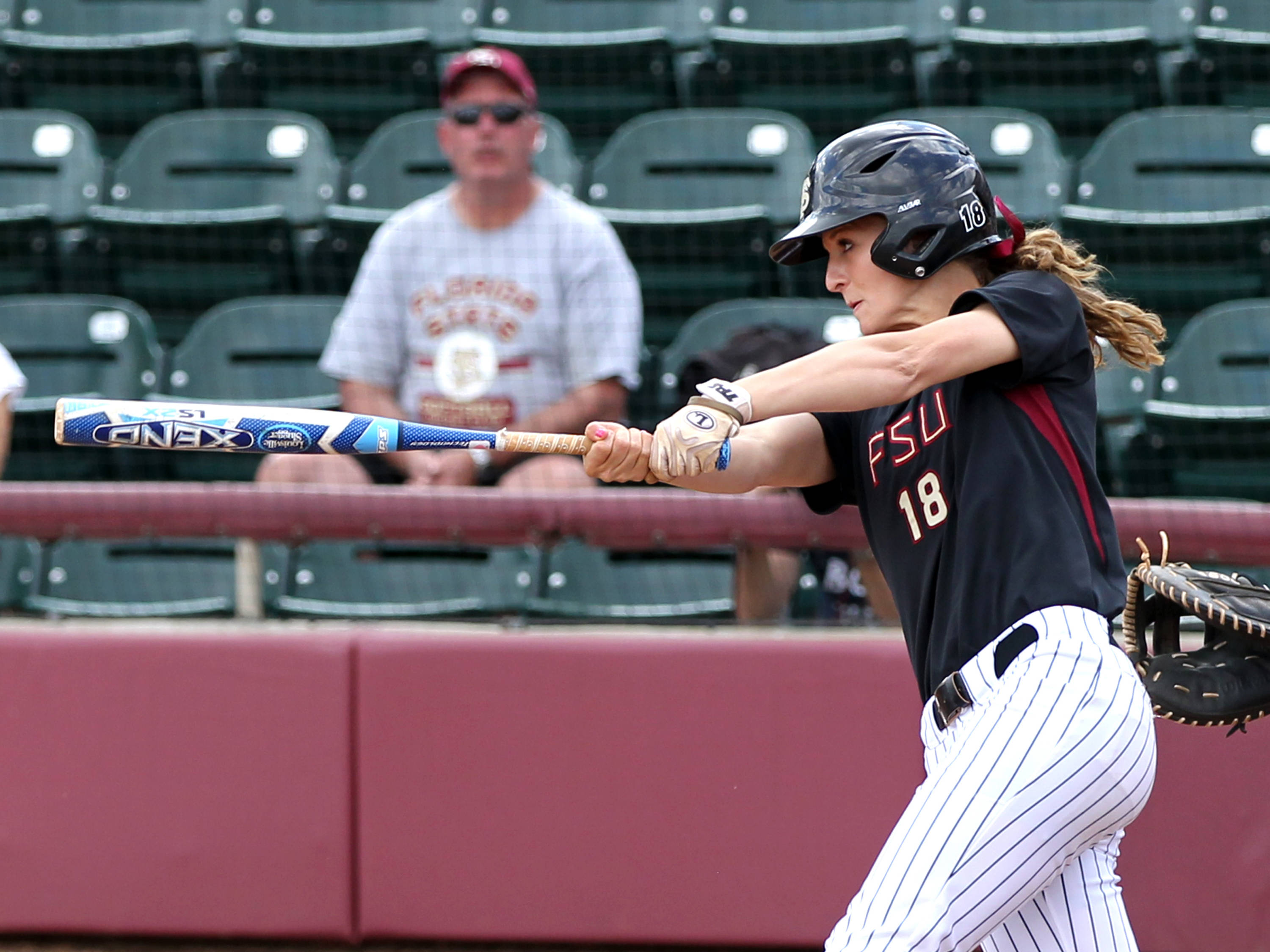 Victoria East (18), FSU vs BC, 04/07/13 . (Photo by Steve Musco)