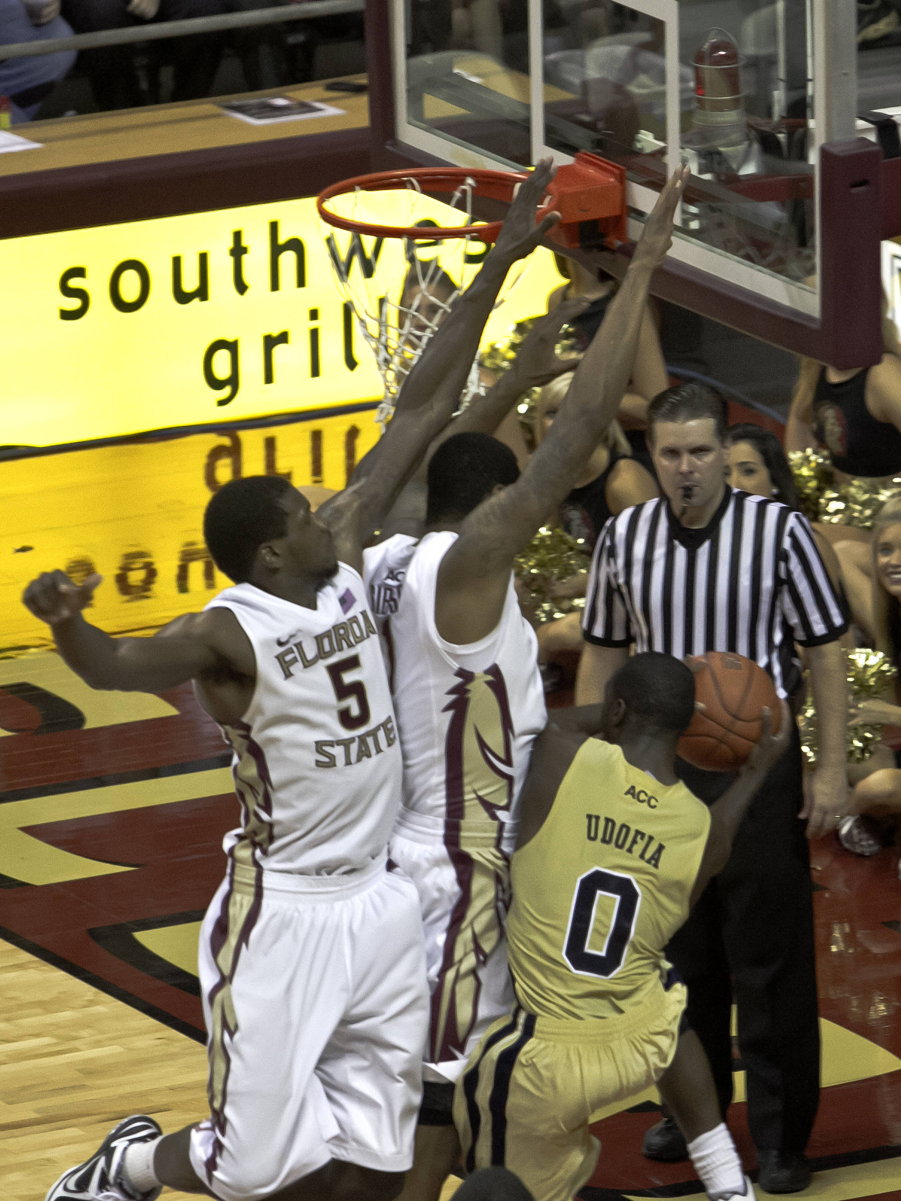 Bernard James (5), Xavier Gibson (1), FSU vs GT,  02/01/2012