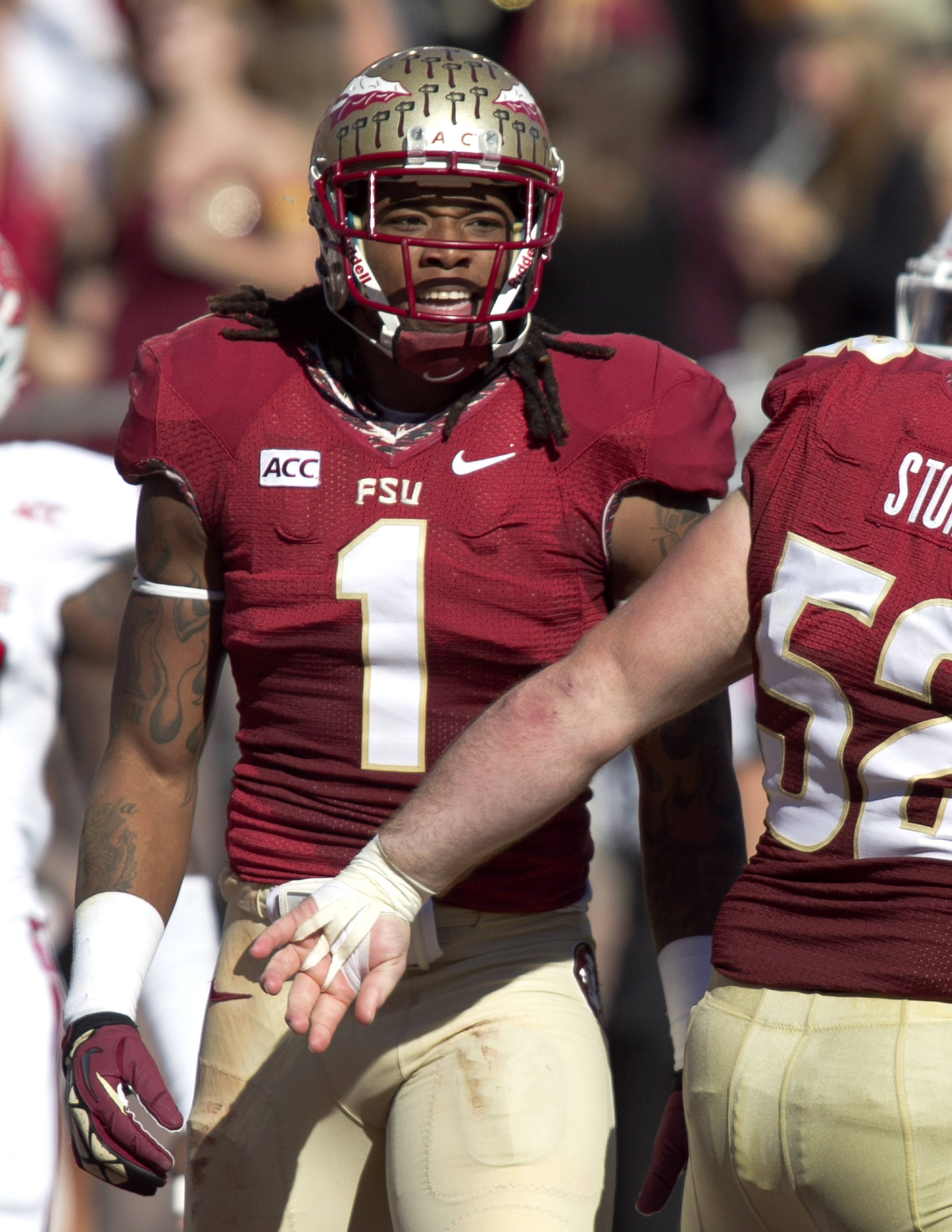 Kelvin Benjamin (1), FSU vs NC State,  10-26-13, (Photo by Steve Musco)