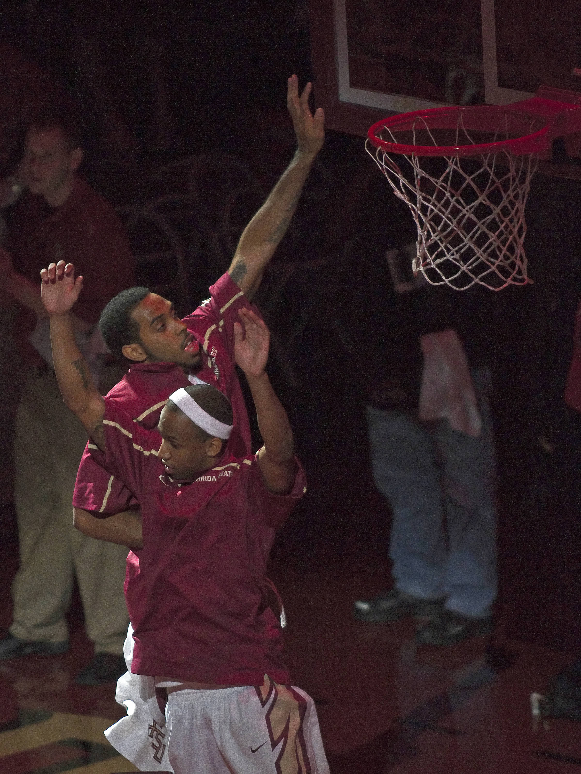FSU vs Boston College - 01/22/11 - Derwin Kitchen (22), A.J. Yawn (2)