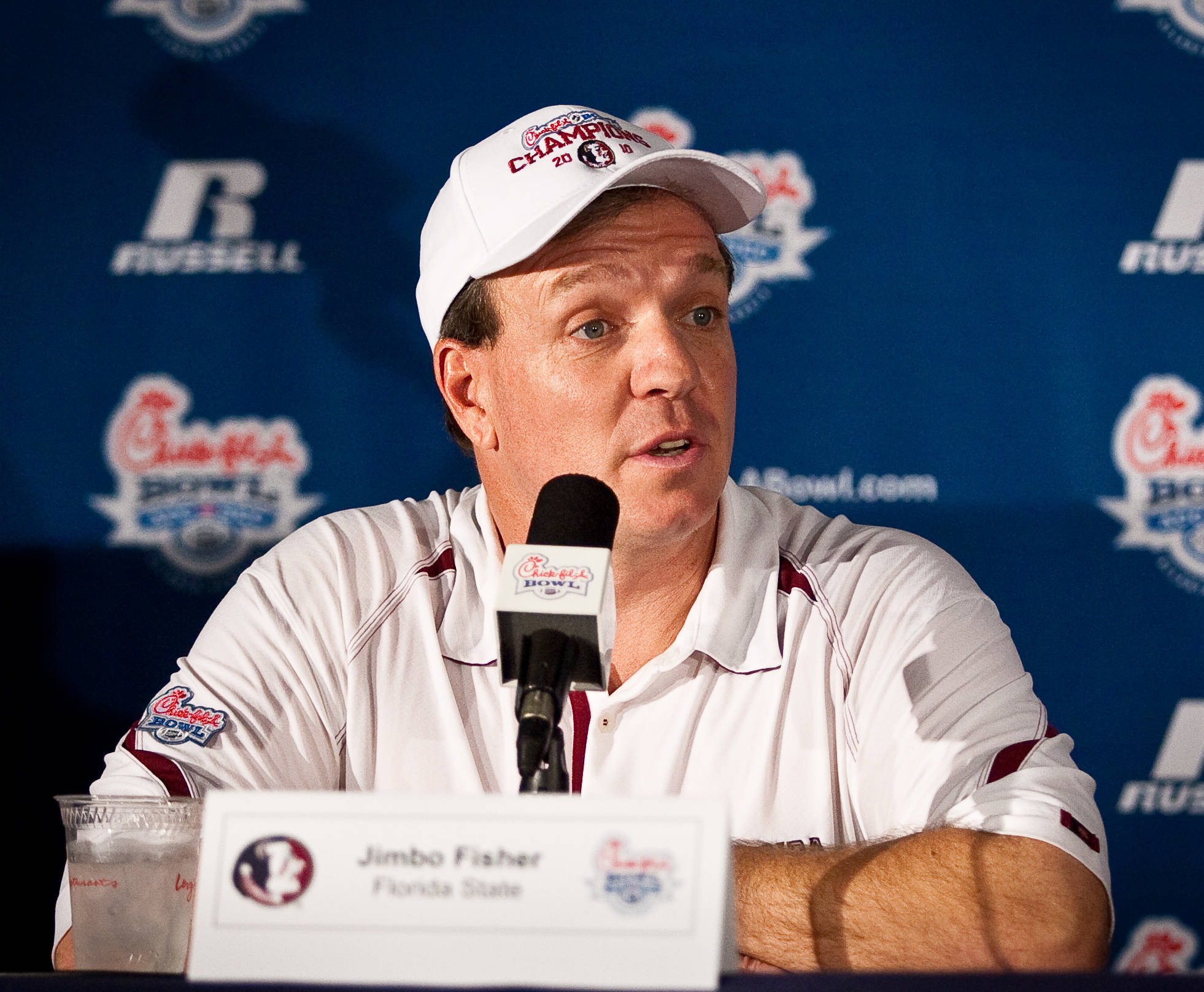 Jimbo Fisher at his postgame press conference