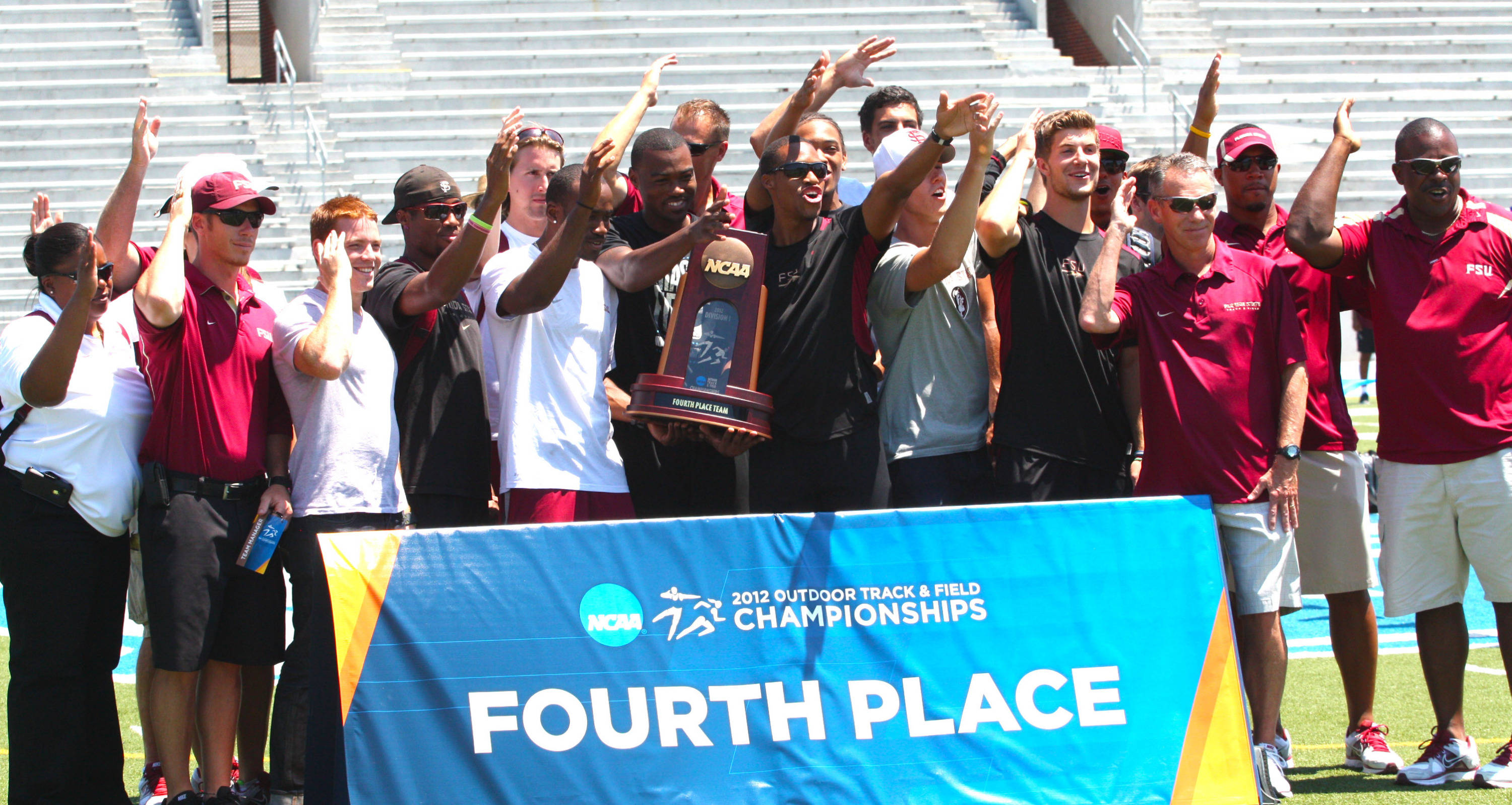 FSU men's track team chops it up after finishing fourth in 2012