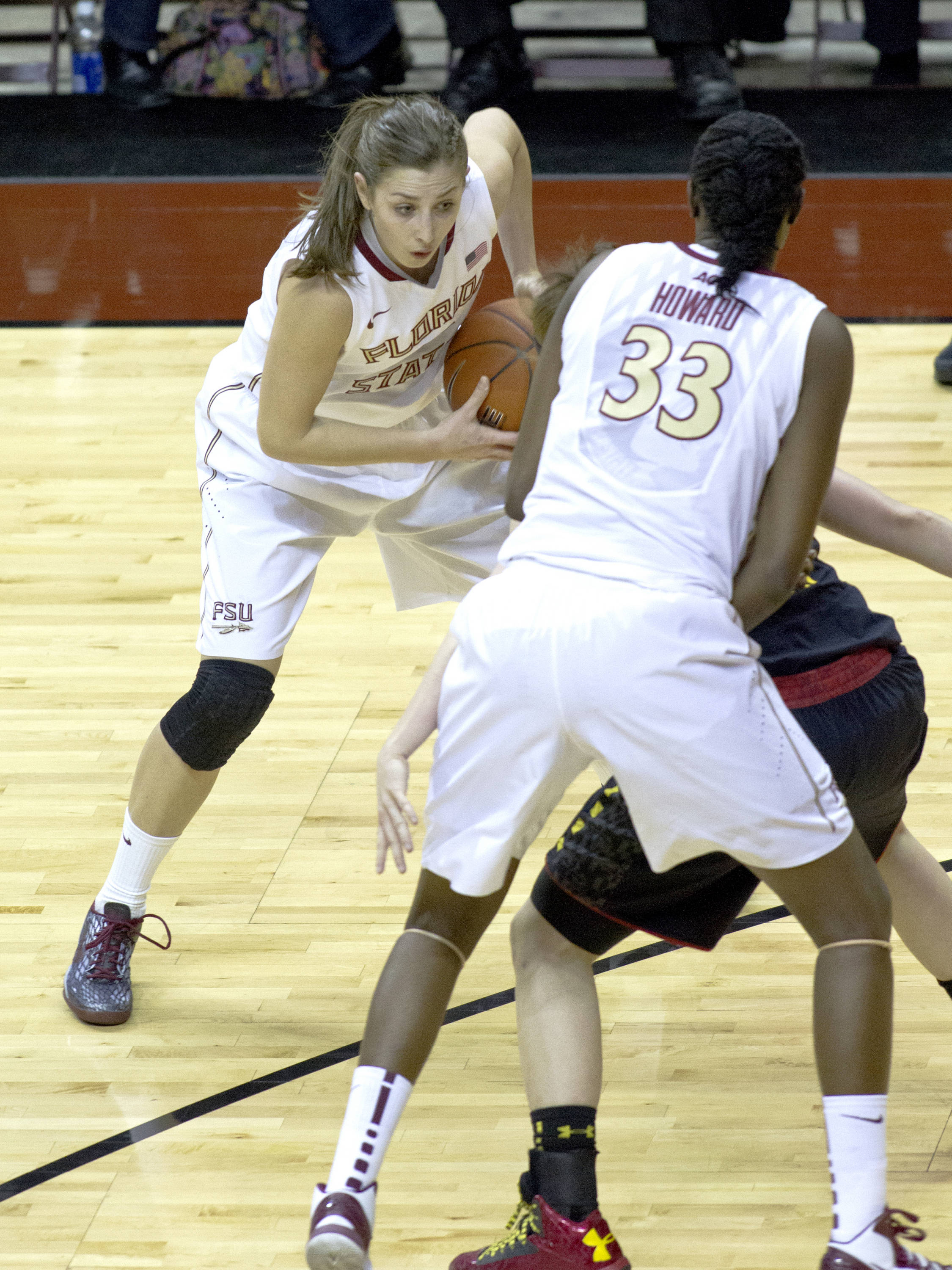 Leonor Rodriguez (10), FSU vs Maryland, 02/28/13. (Photo by Steve Musco)