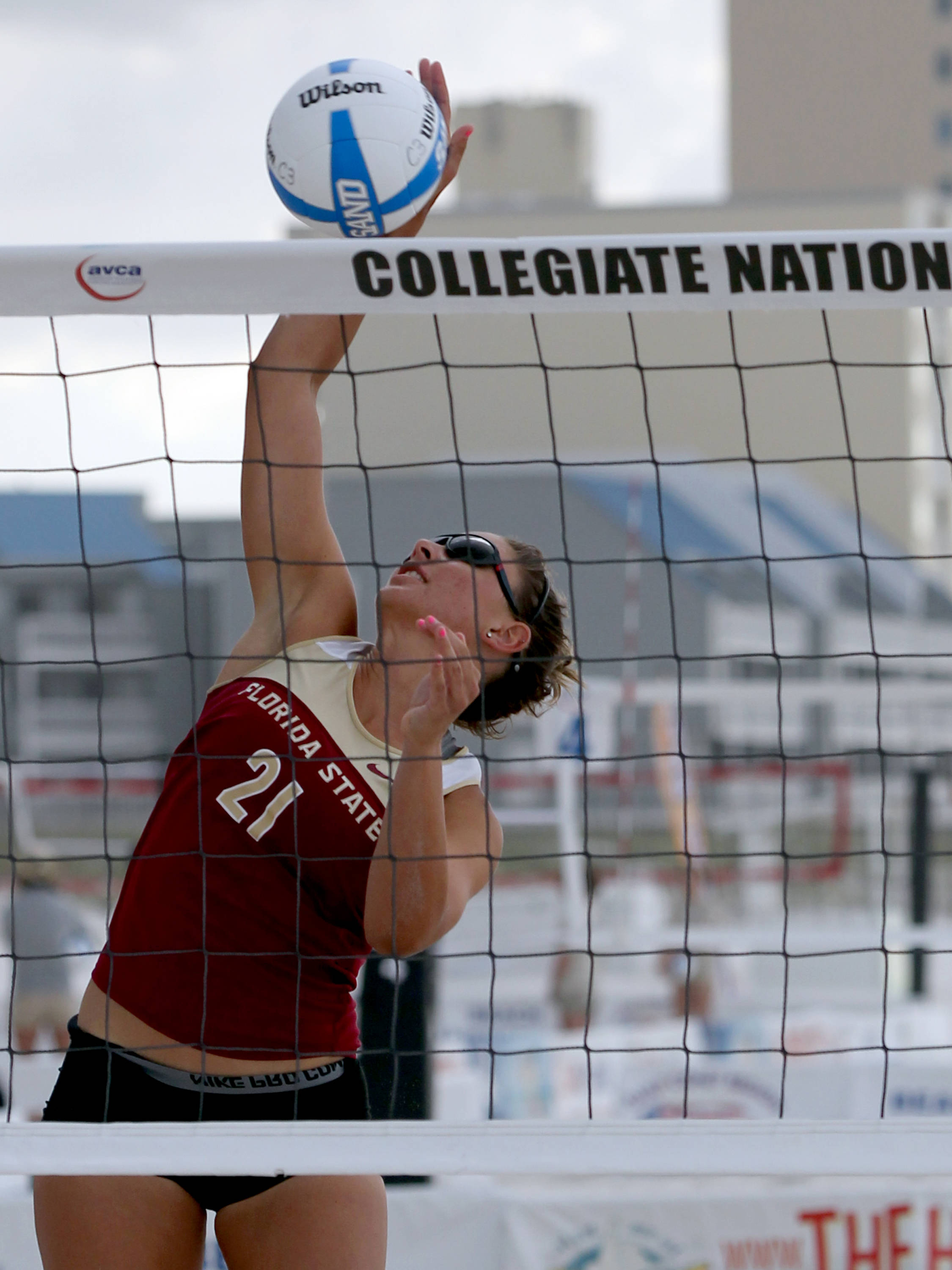 Jace Pardon (21), AVCA Collegiate Sand Volleyball National  Championships - Pairs,  Gulf Shores, Alabama, 05/05/13 . (Photo by Steve Musco)