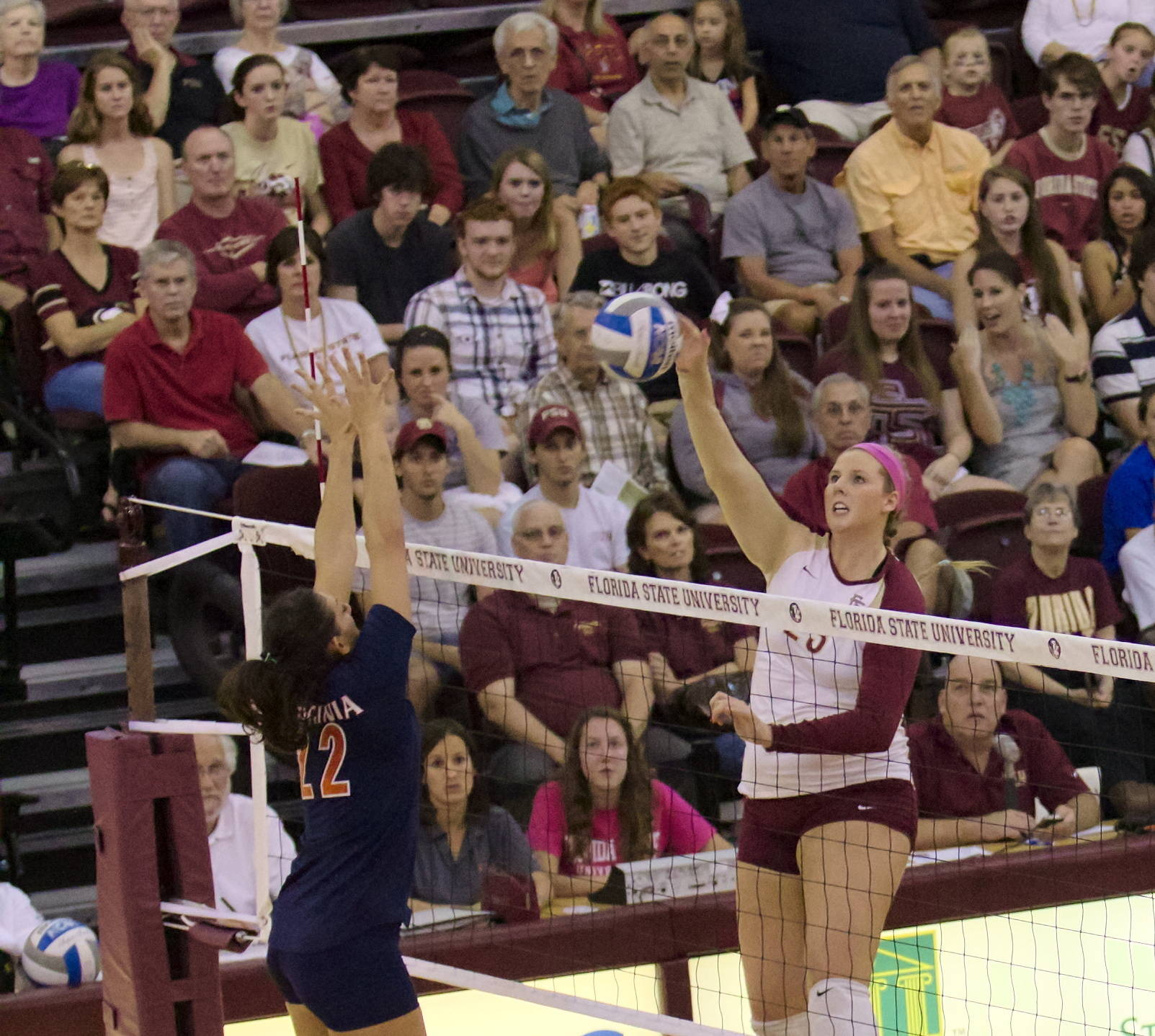 Elise Walch (23), FSU vs Virginia, 10/26/12 (Photo by Steve Musco)
