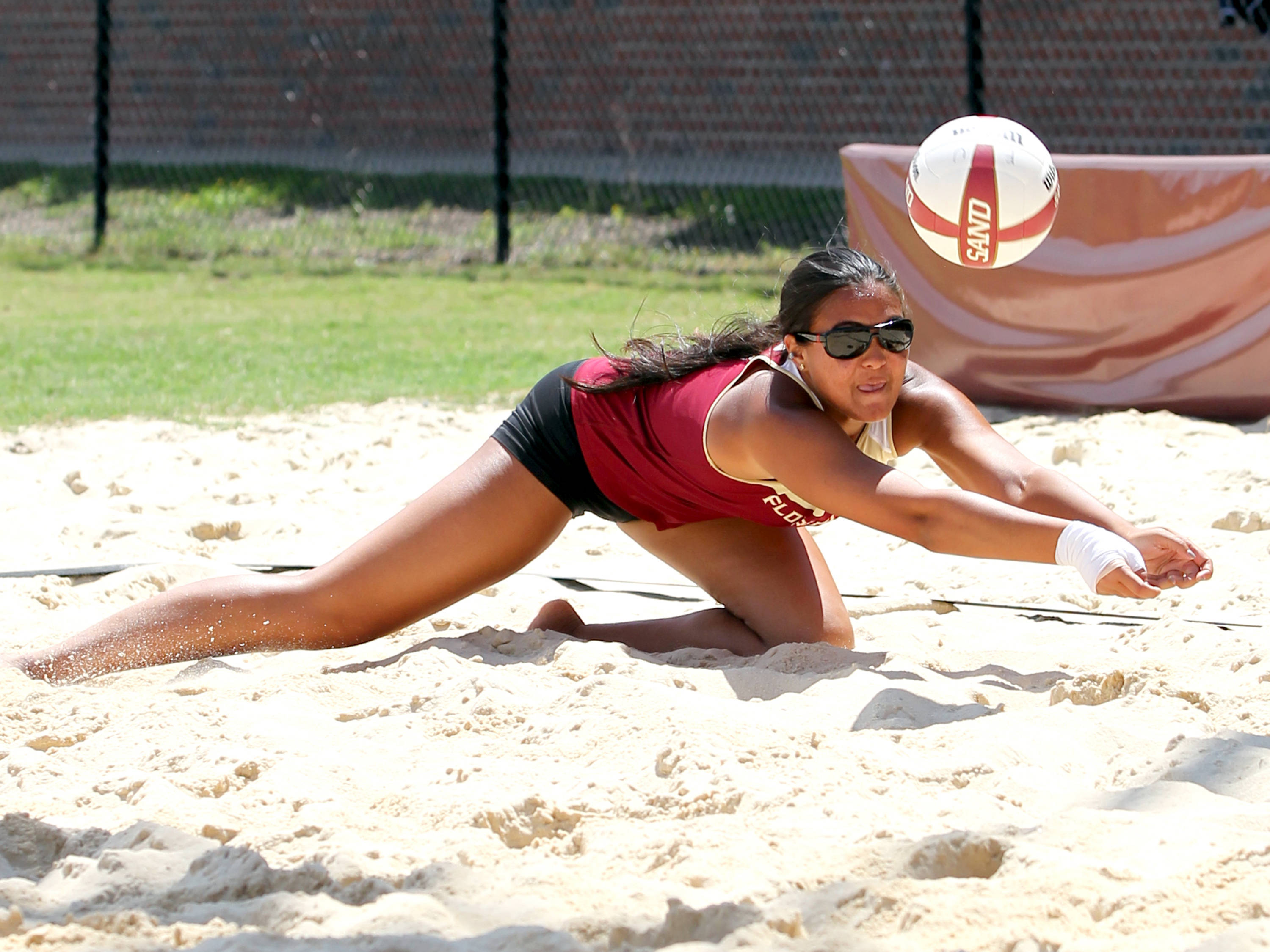 Lexy Ryan, Sand Volleyball Tournament,  04/20/13 . (Photo by Steve Musco)