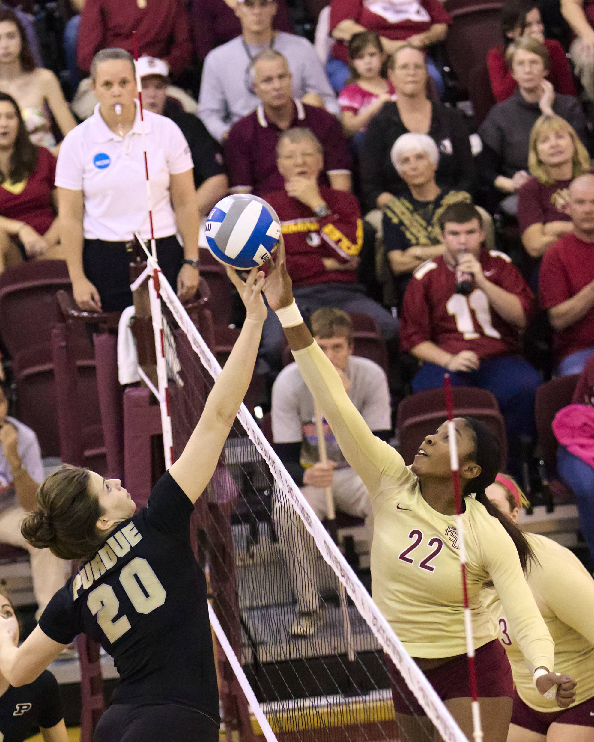 Sareea Freeman (22), FSU vs Purdue, 12/01/12. (Photo by Steve Musco)