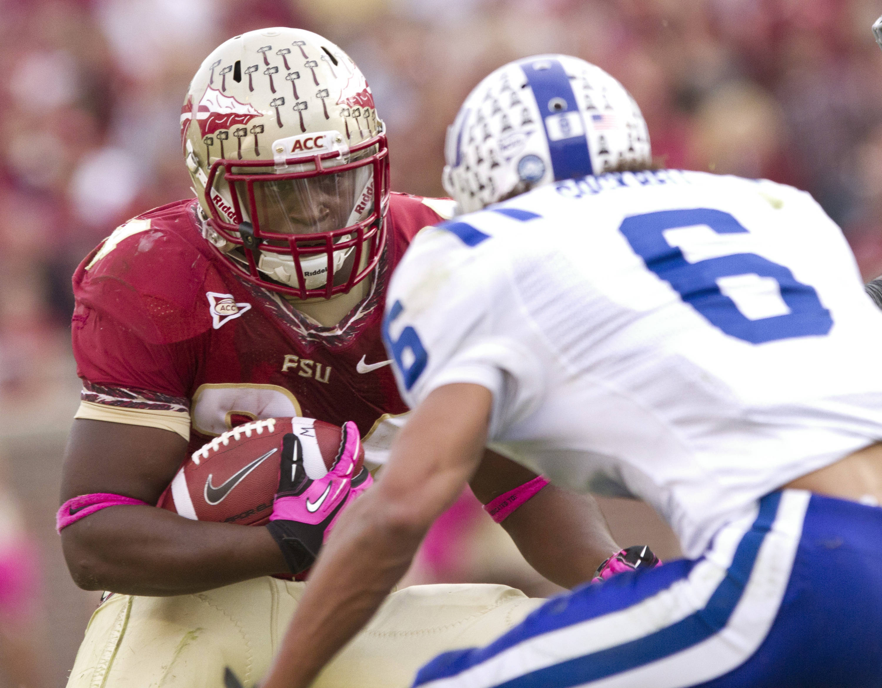 Lonnie Pryor (24) carries the ball during FSU's 48-7 victory over Duke on October 27, 2012 in Tallahassee, Fla.