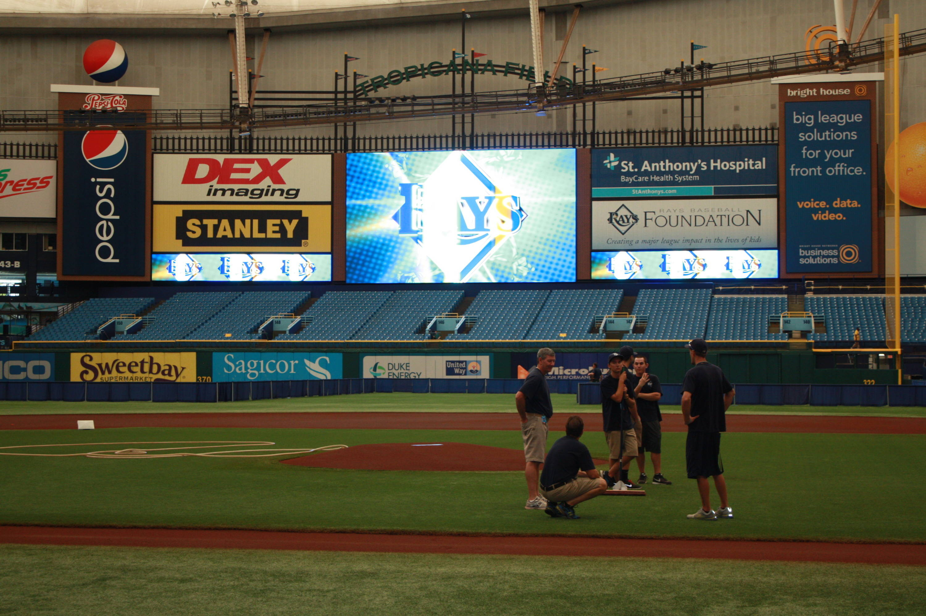 Inside the Trop on Sunday morning on FSU Day at the Rays