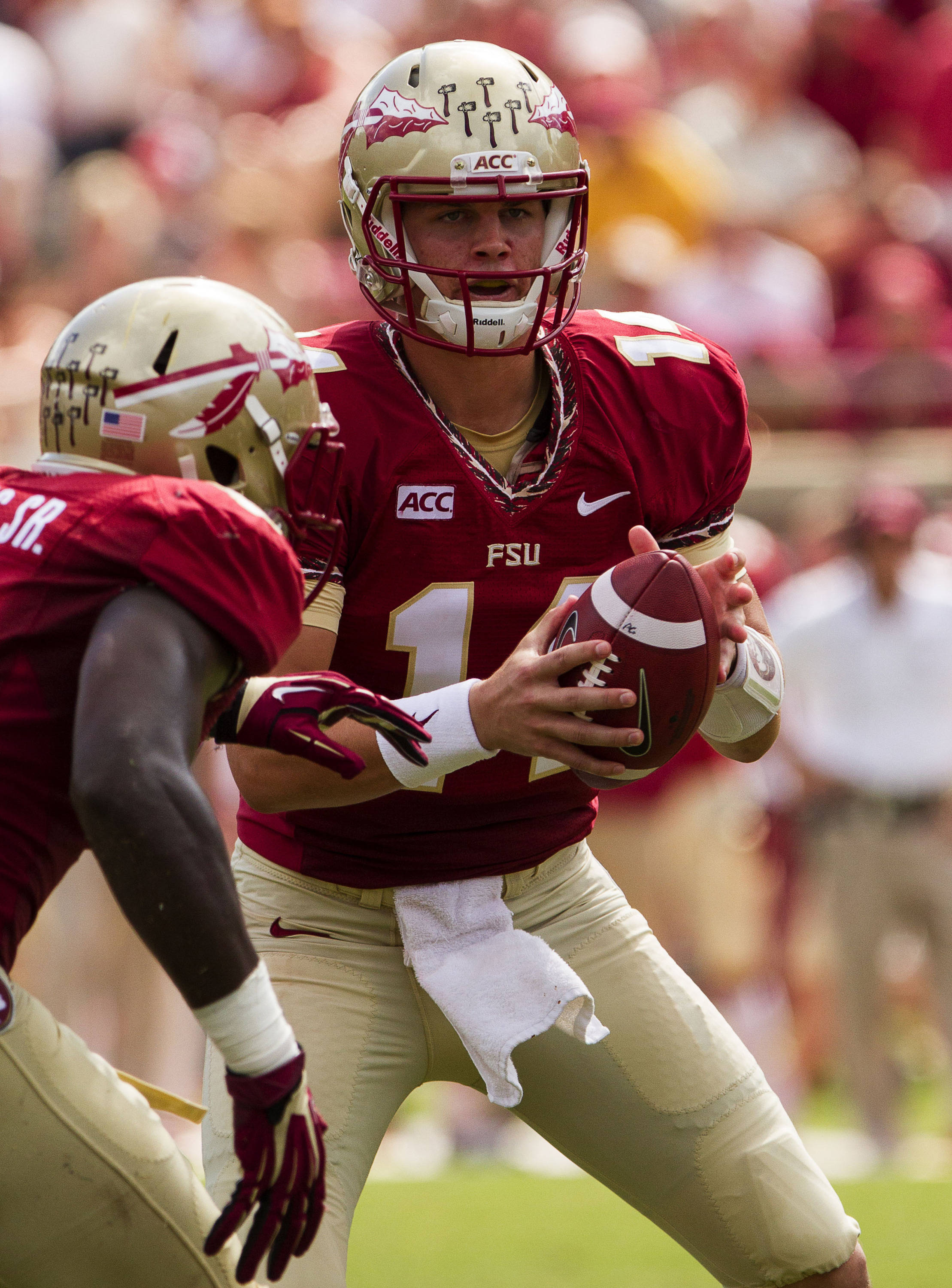 Jacob Coker (14) during FSU Football's 63-0 shutout of Maryland on Saturday, October 5, 2013 in Tallahassee, Fla.