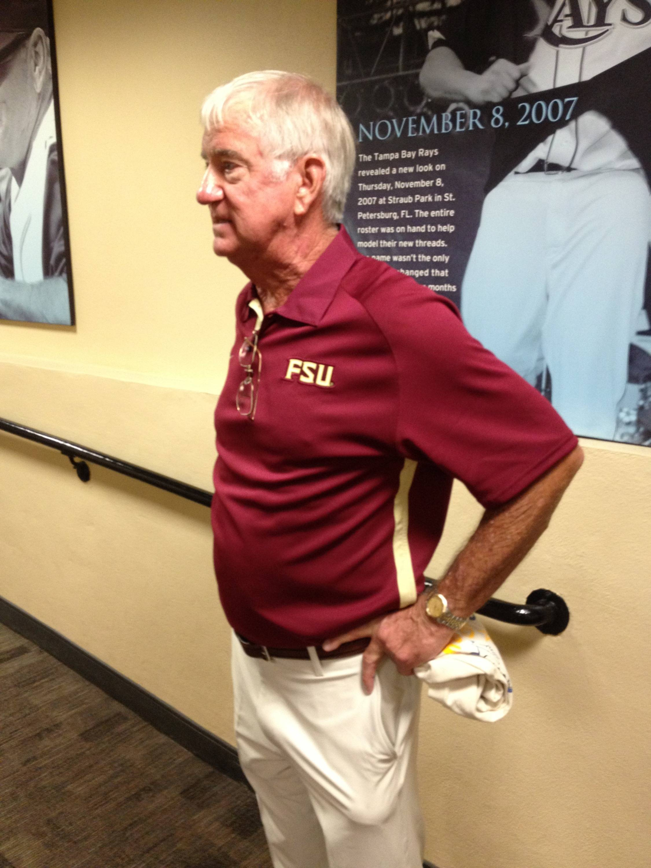 Mike Martin speaks with Seminoles.com after the first pitch.