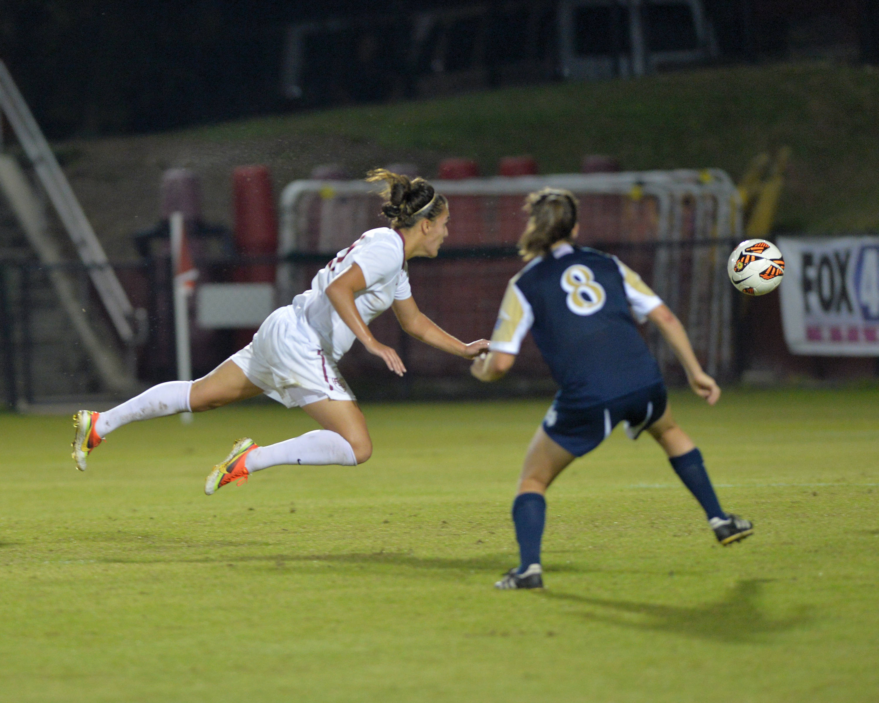 Marta Bakowska-Mathews with the diving header in double overtime to score the golden goal.