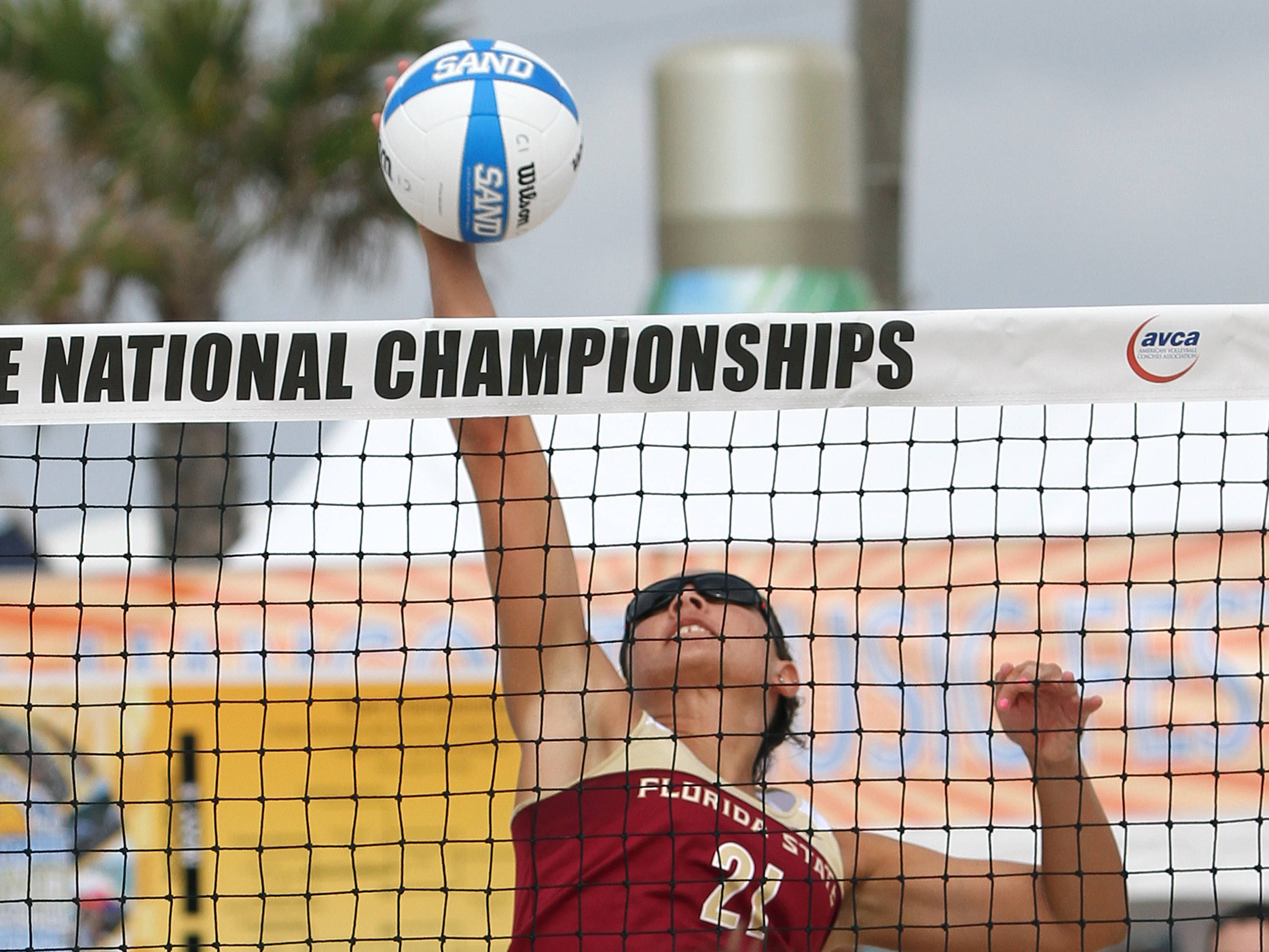 Jace Pardon, (21), AVCA Collegiate Sand Volleyball National Championships,  Gulf Shores, Alabama,05/03/13 . (Photo by Steve Musco)