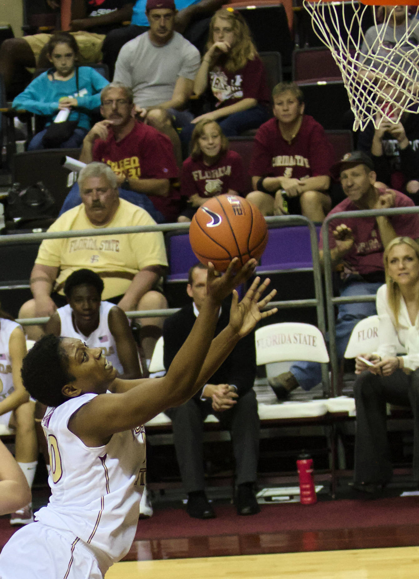 Chasity Clayton (00), FSU vs Samford, 11/11/12. (Photo by Steve Musco)