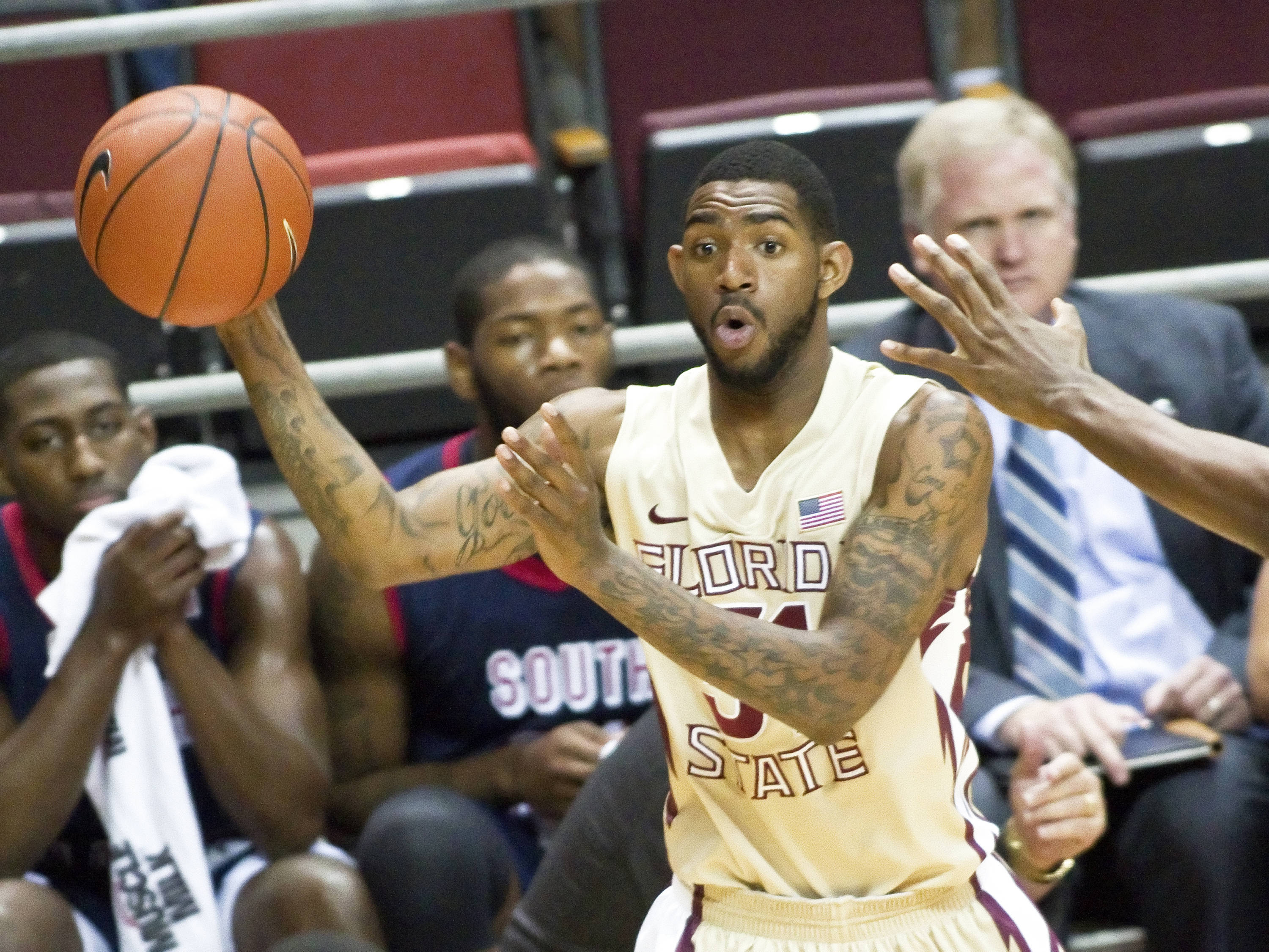 Terry Whisnant (31), FSU vs So. Alabama, 11/20/2011