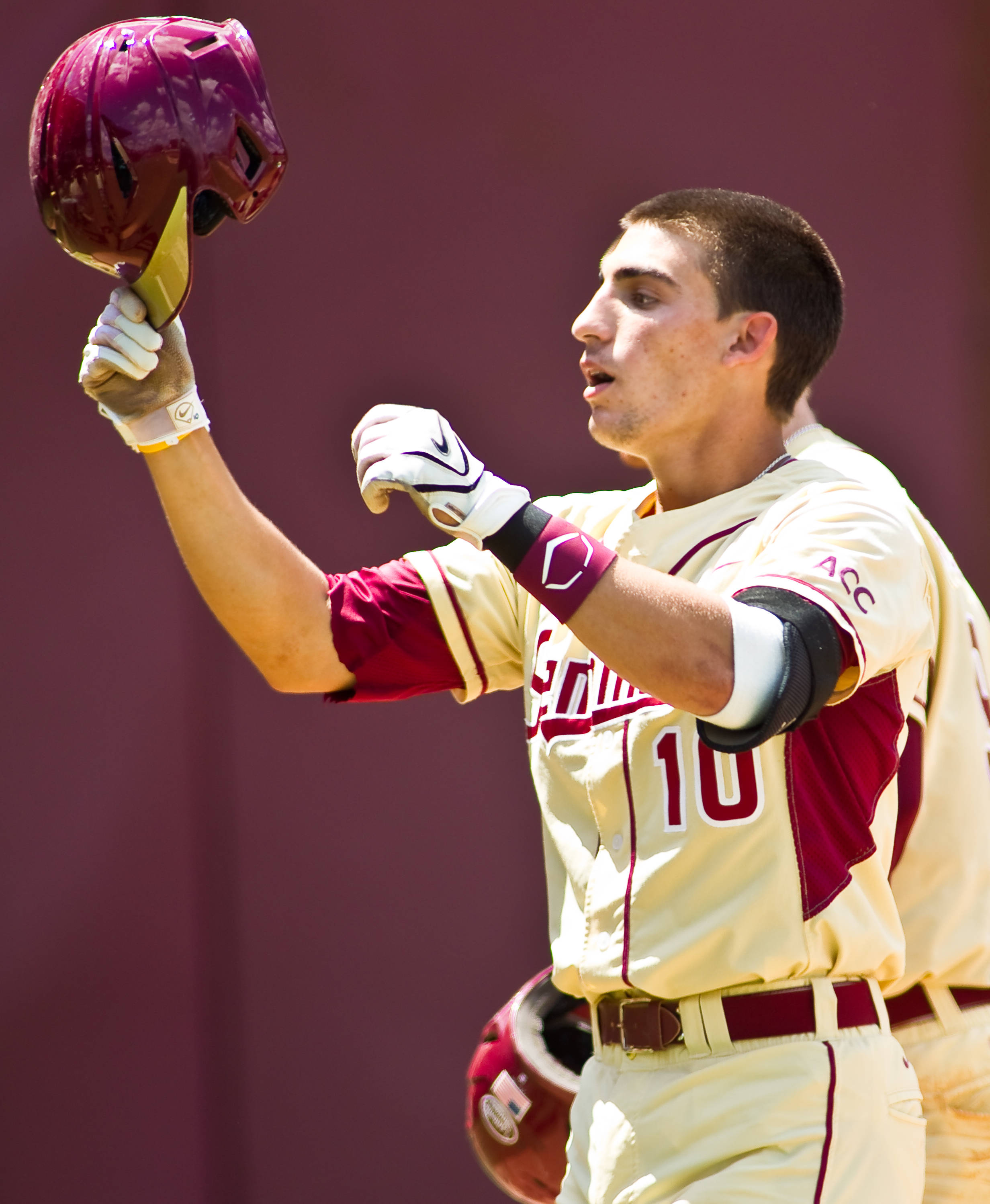 Justin Gonzalez celebrates after hitting his second grand slam of the season in the third inning.