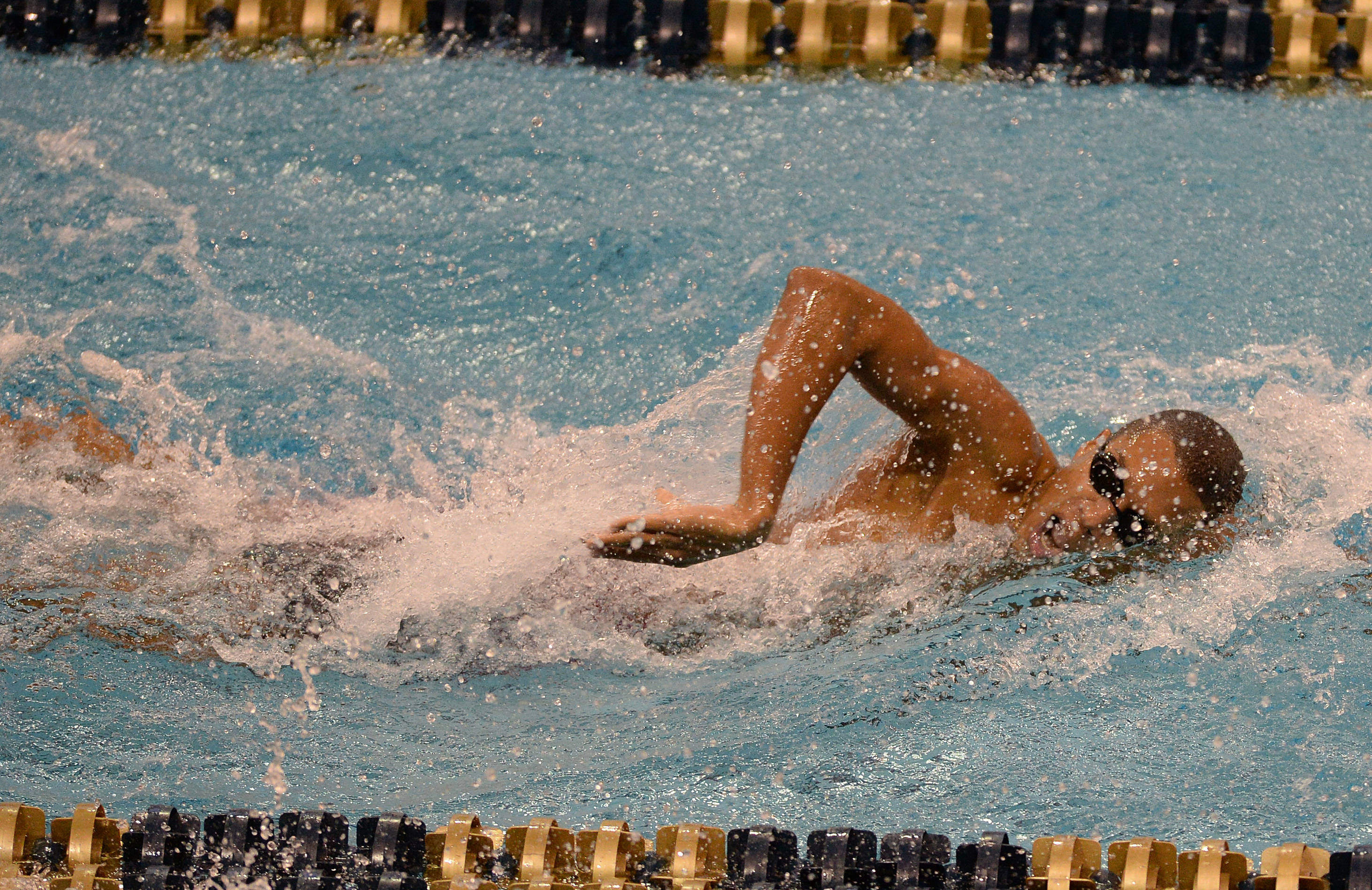 Calvin Bryant in the 500 free - Mitch White