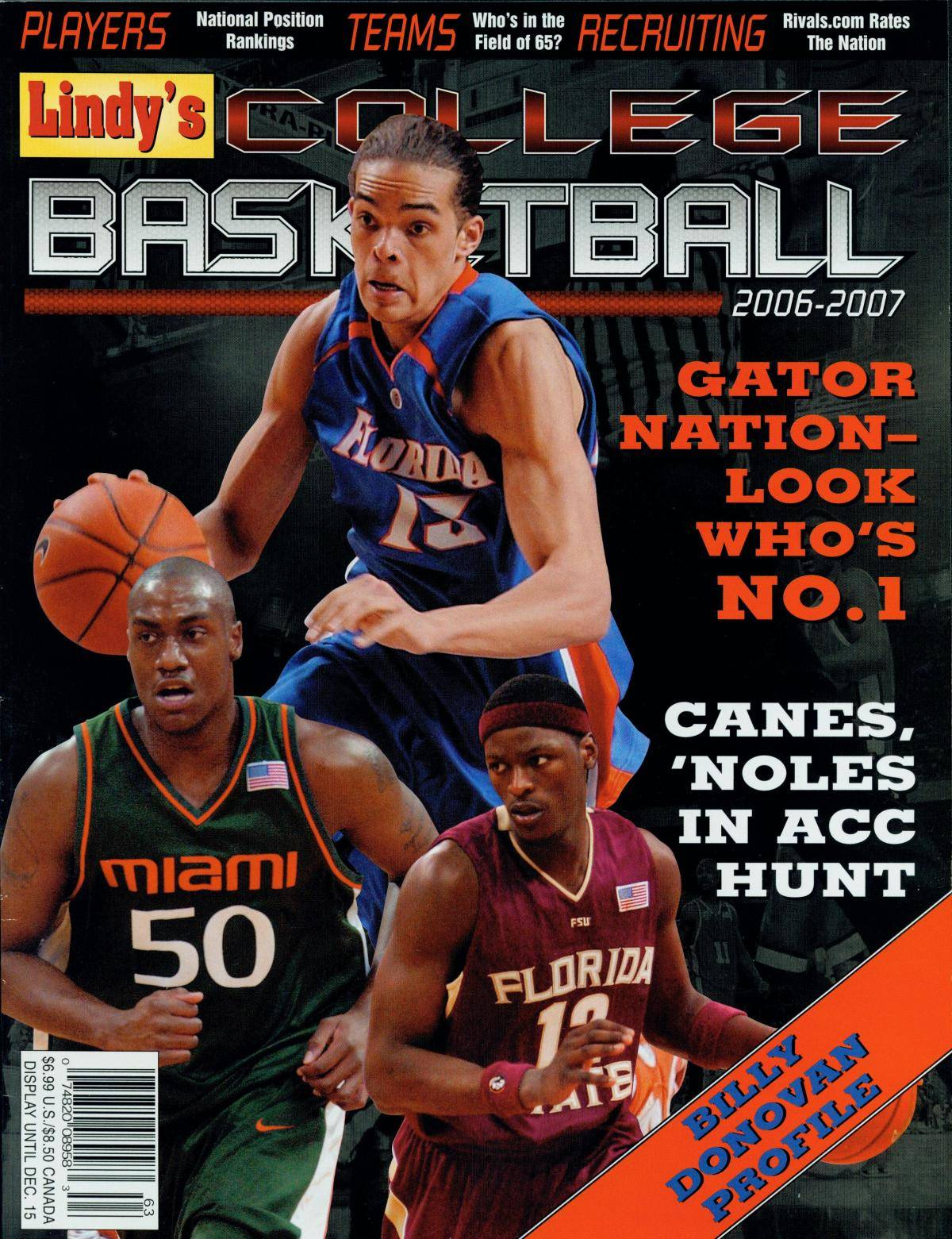 All-America candidate Al Thornton is pictured on the Lindy's College#$%^Basketball annual for the 2006-07 season.
