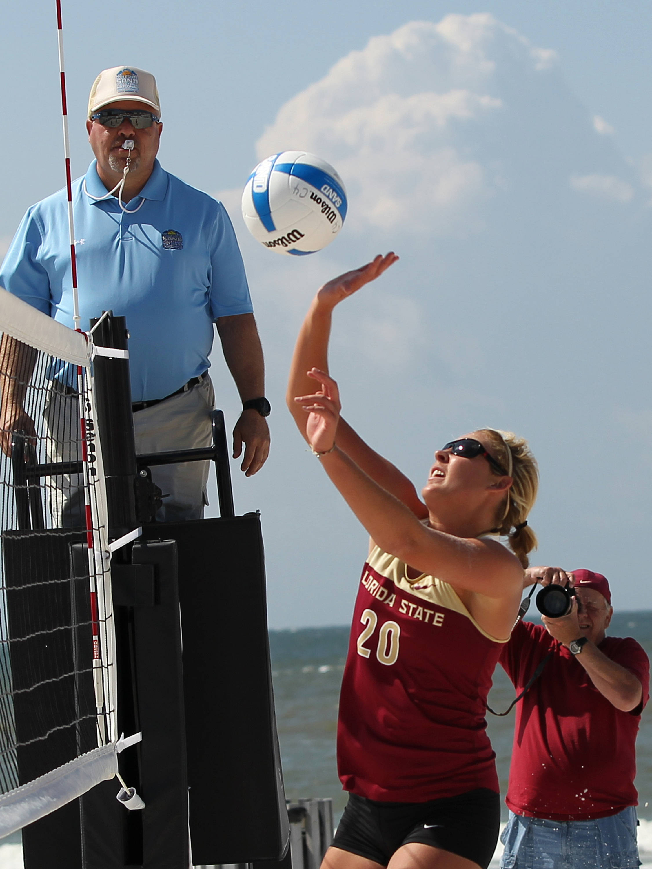 Sarah Wickstrom, AVCA Collegiate Sand Volleyball National  Championships - Pairs,  Gulf Shores, Alabama, 05/05/13 . (Photo by Steve Musco)