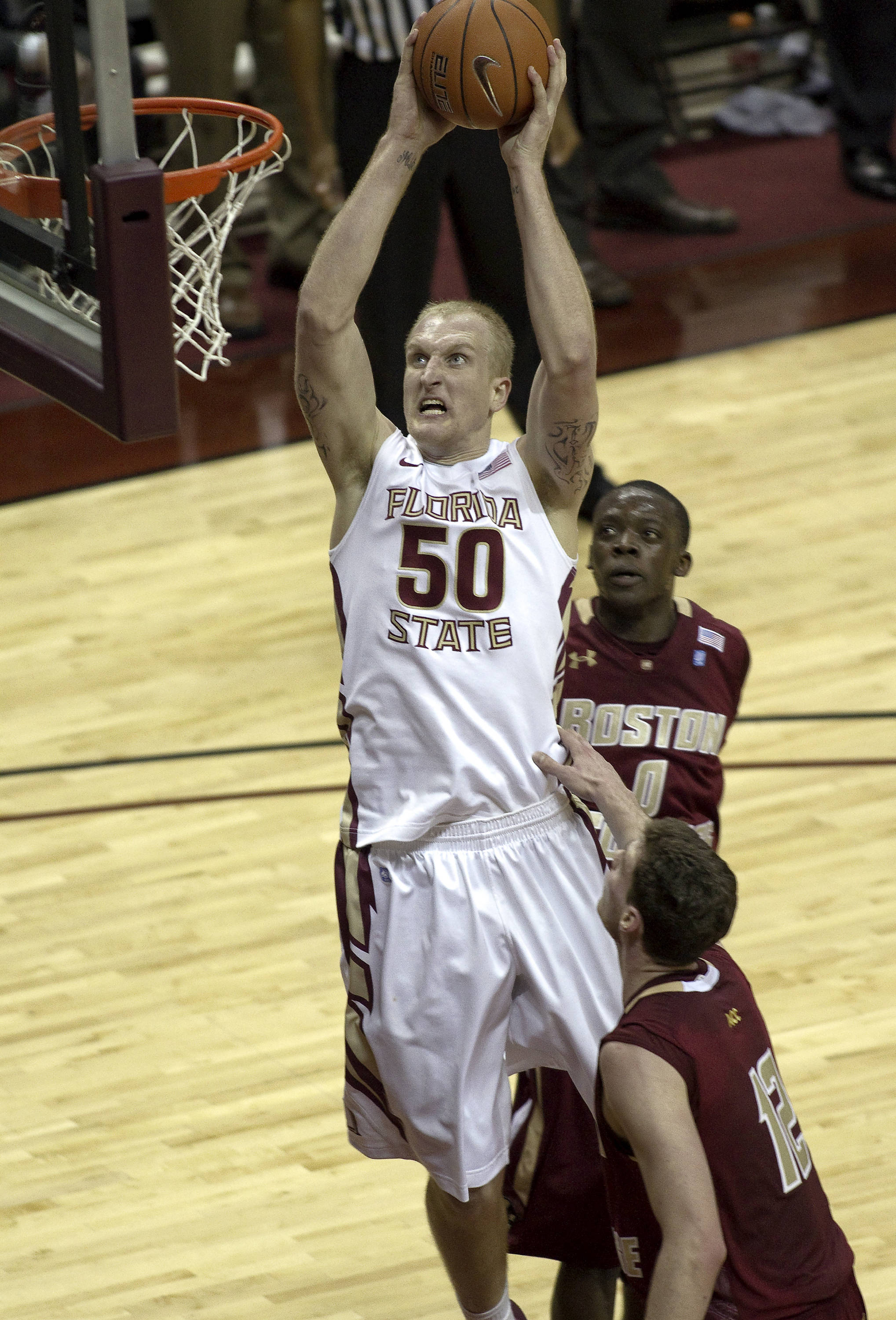 FSU vs Boston College - 01/22/11 - John Kreft (50)
