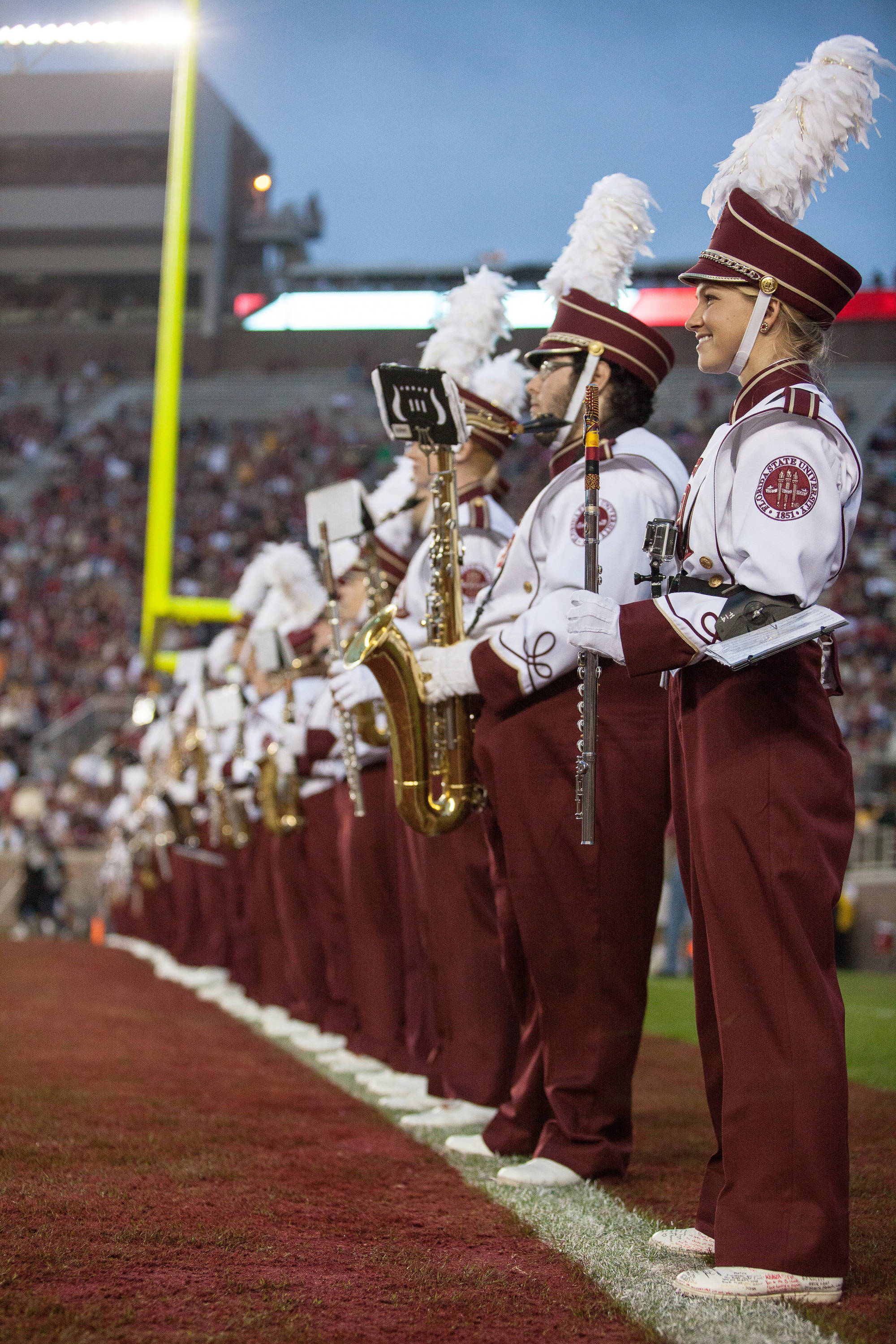 FSU's band performs during FSU Football's 80-14 victory over Idaho in Tallahassee, Fla on Saturday, November 23, 2013. Photos by Mike Schwarz.