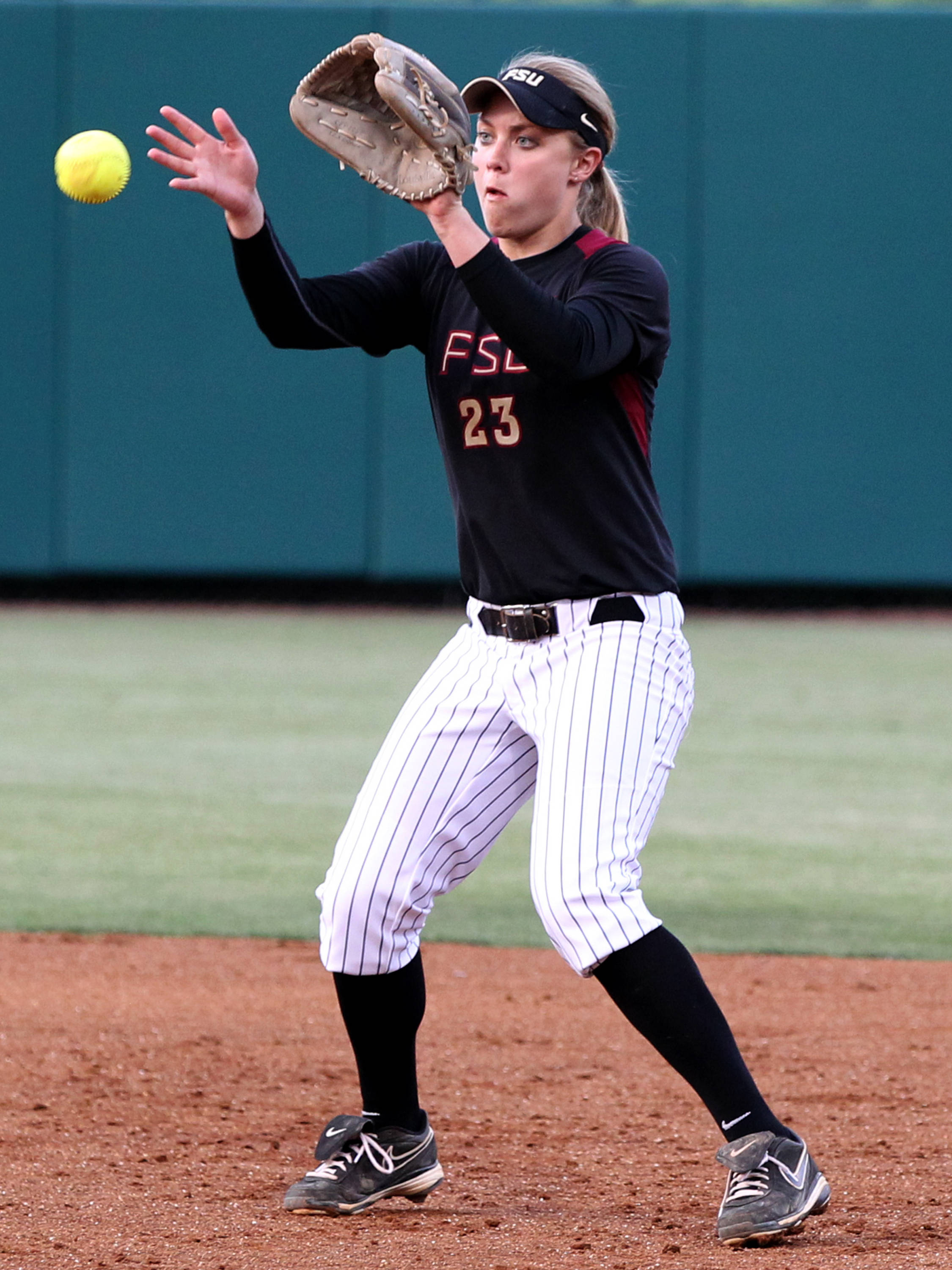 Kelly Hensley, FSU vs Virginia, 04/13/13 . (Photo by Steve Musco)