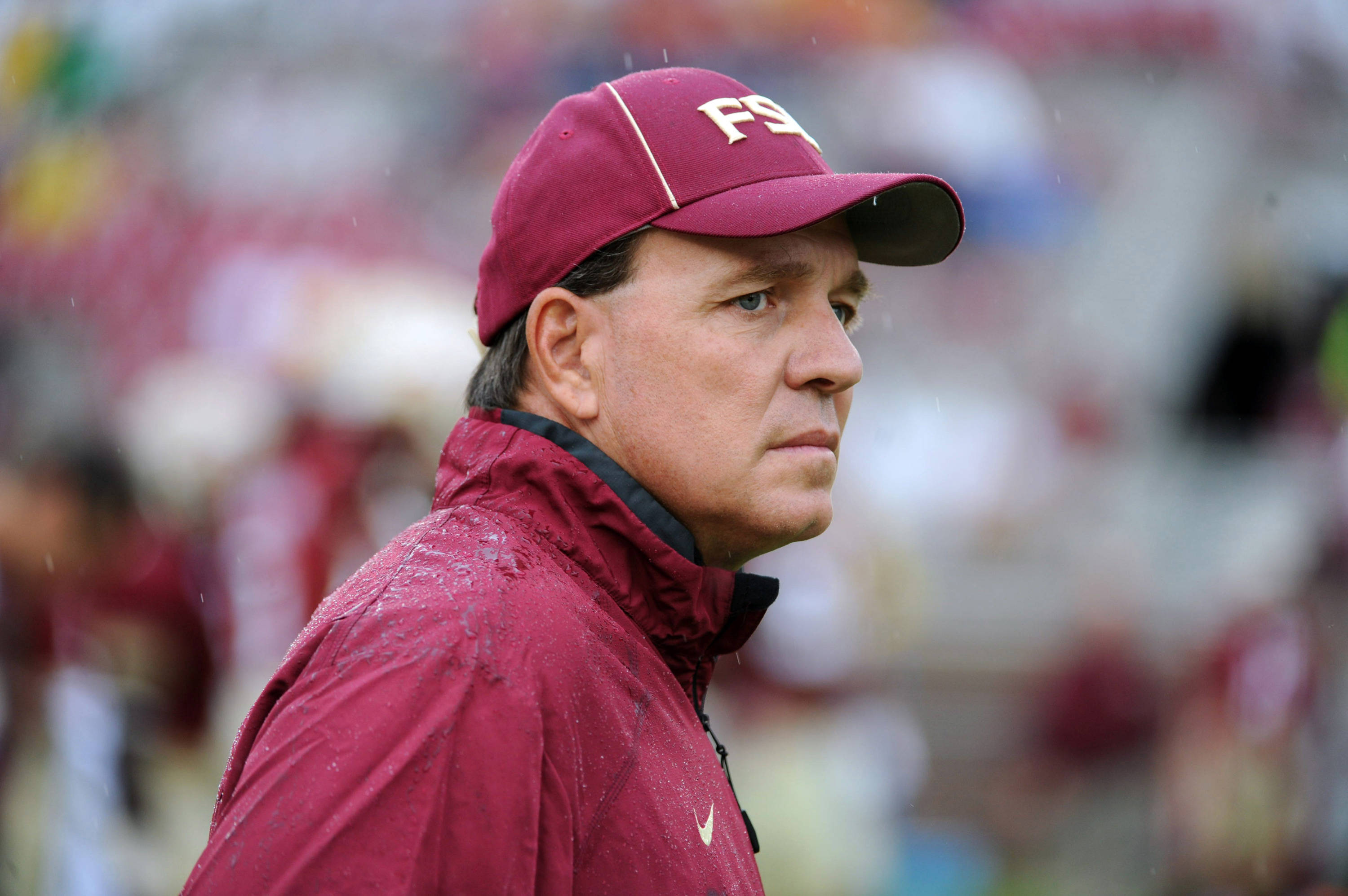Florida State Seminoles head coach Jimbo Fisher before the start of the game against the Bethune-Cookman Wildcats. (Melina Vastola-USA TODAY Sports)
